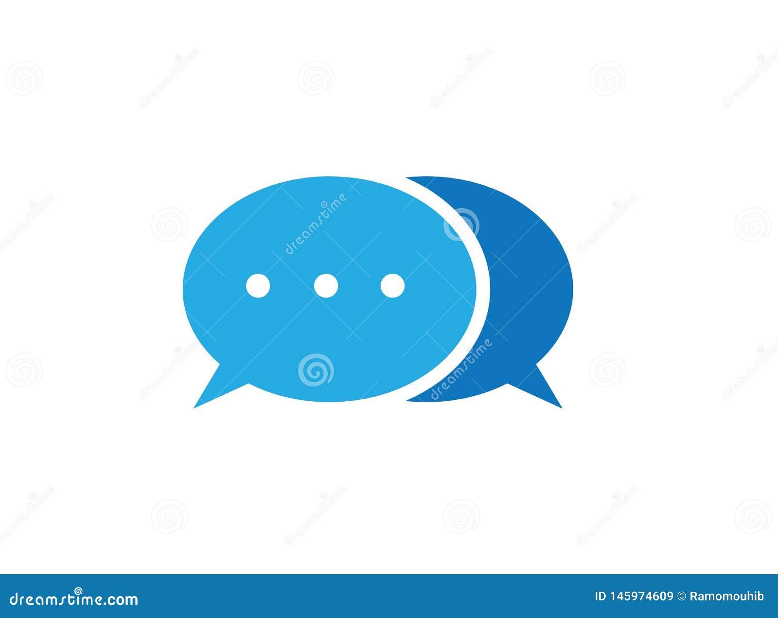 Symbole de communication d icône de causerie et service à la clientèle pour le vecteur de conception de logo