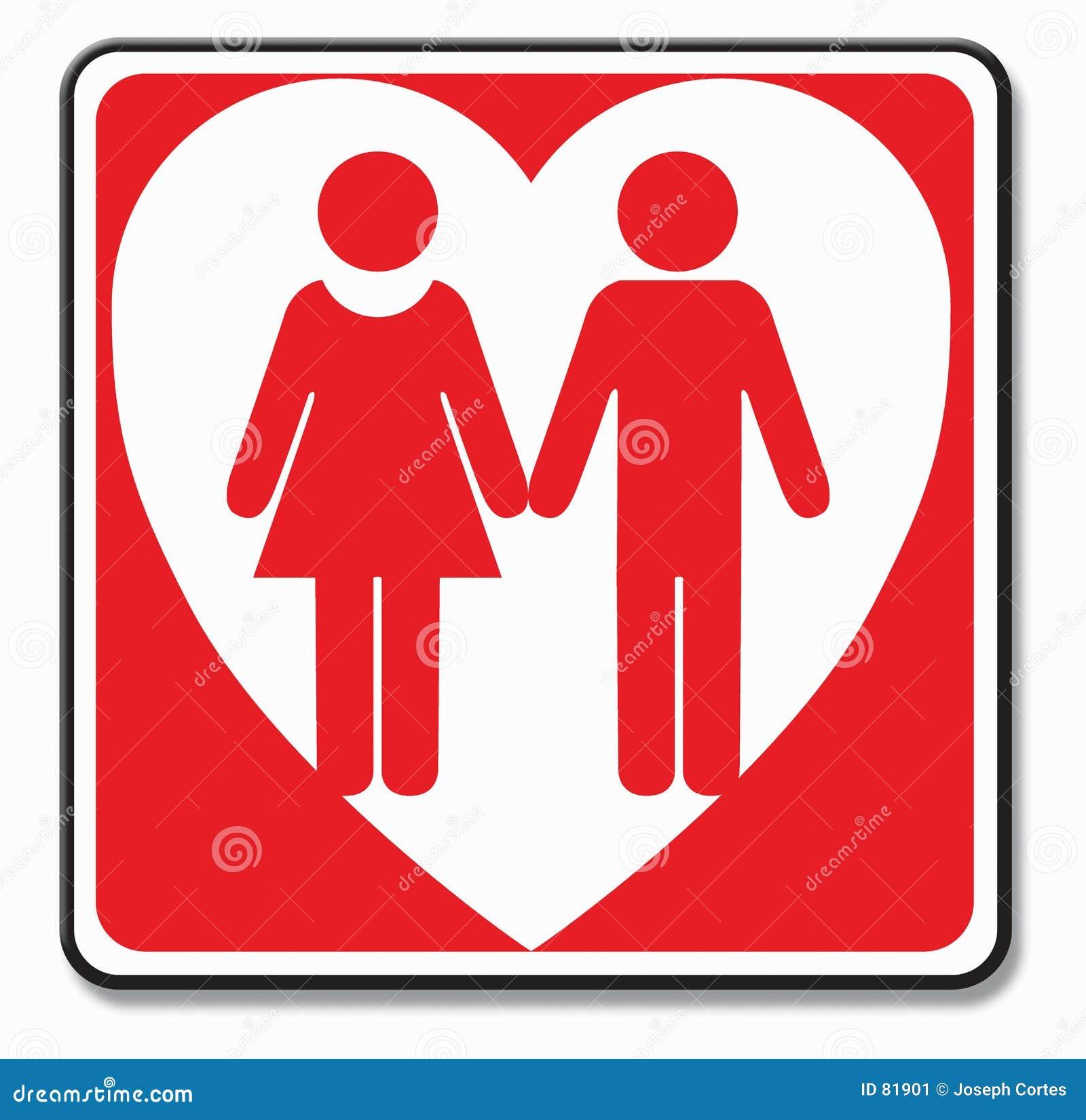 Symbole de couples d amour