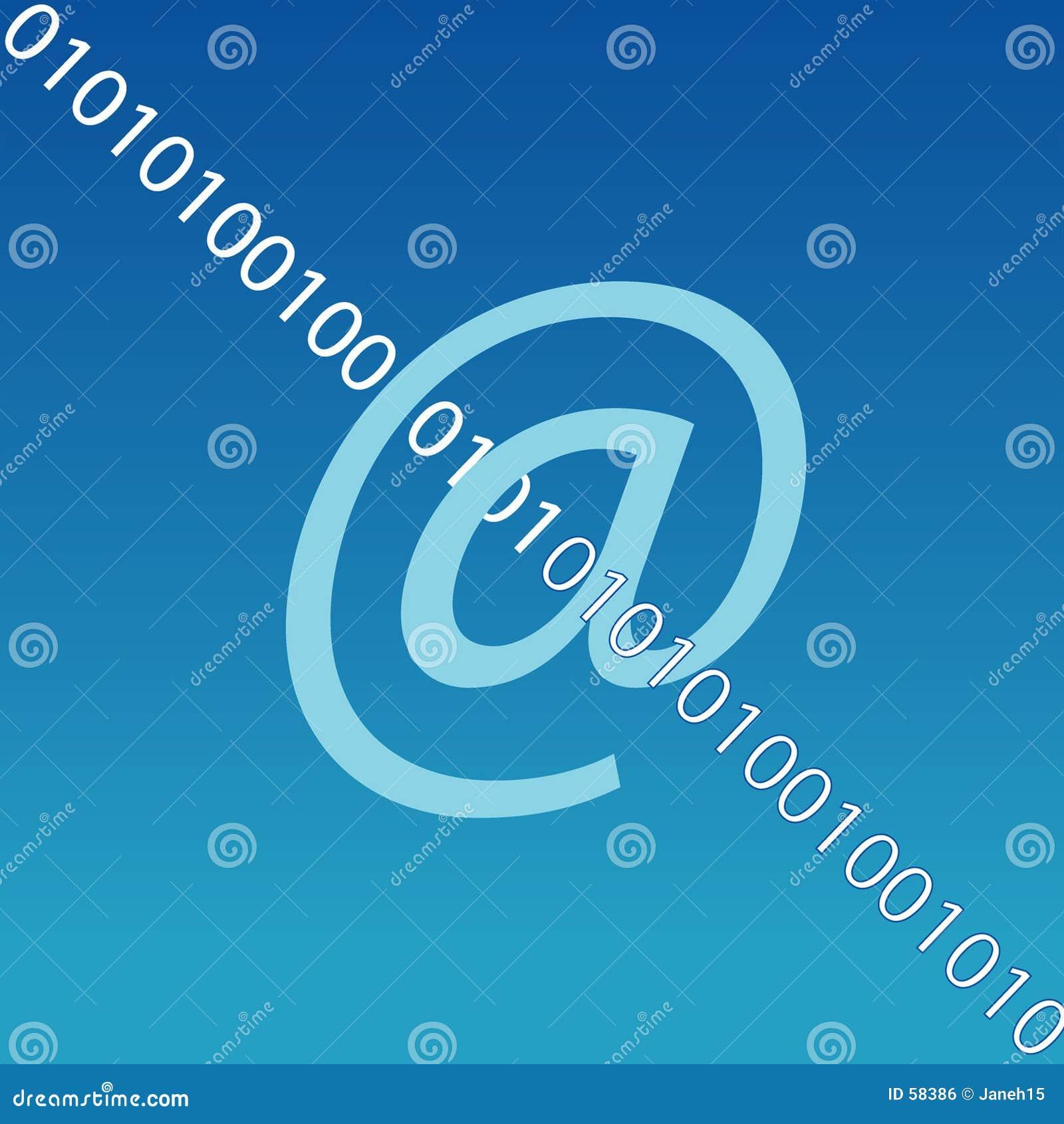 Symbole de courrier électronique Internet
