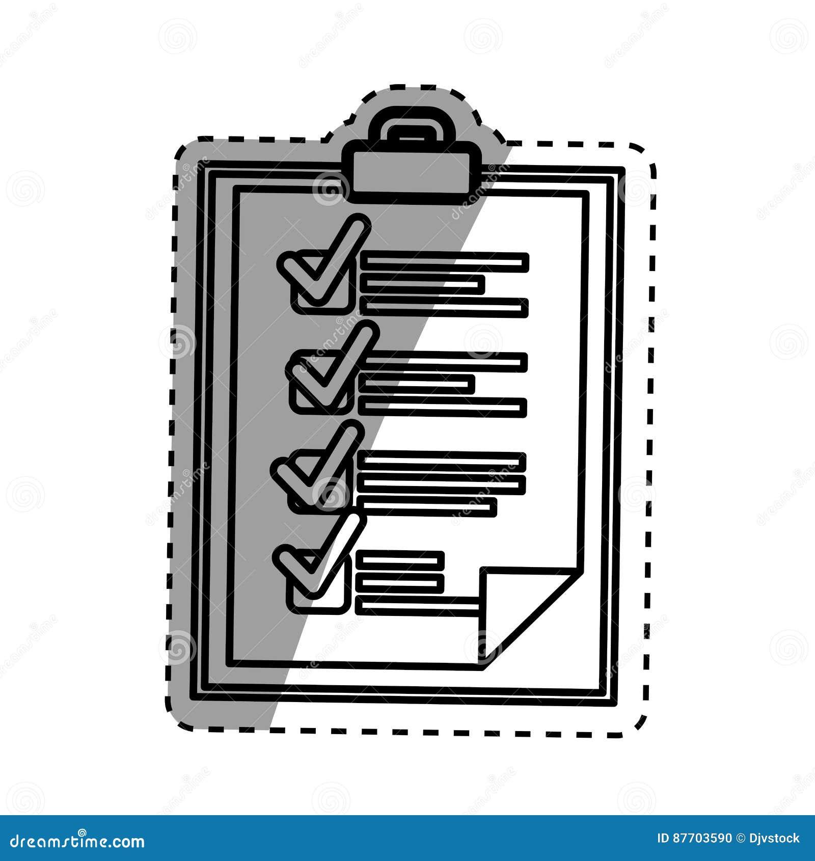 Symbole de forme de liste de contrôle