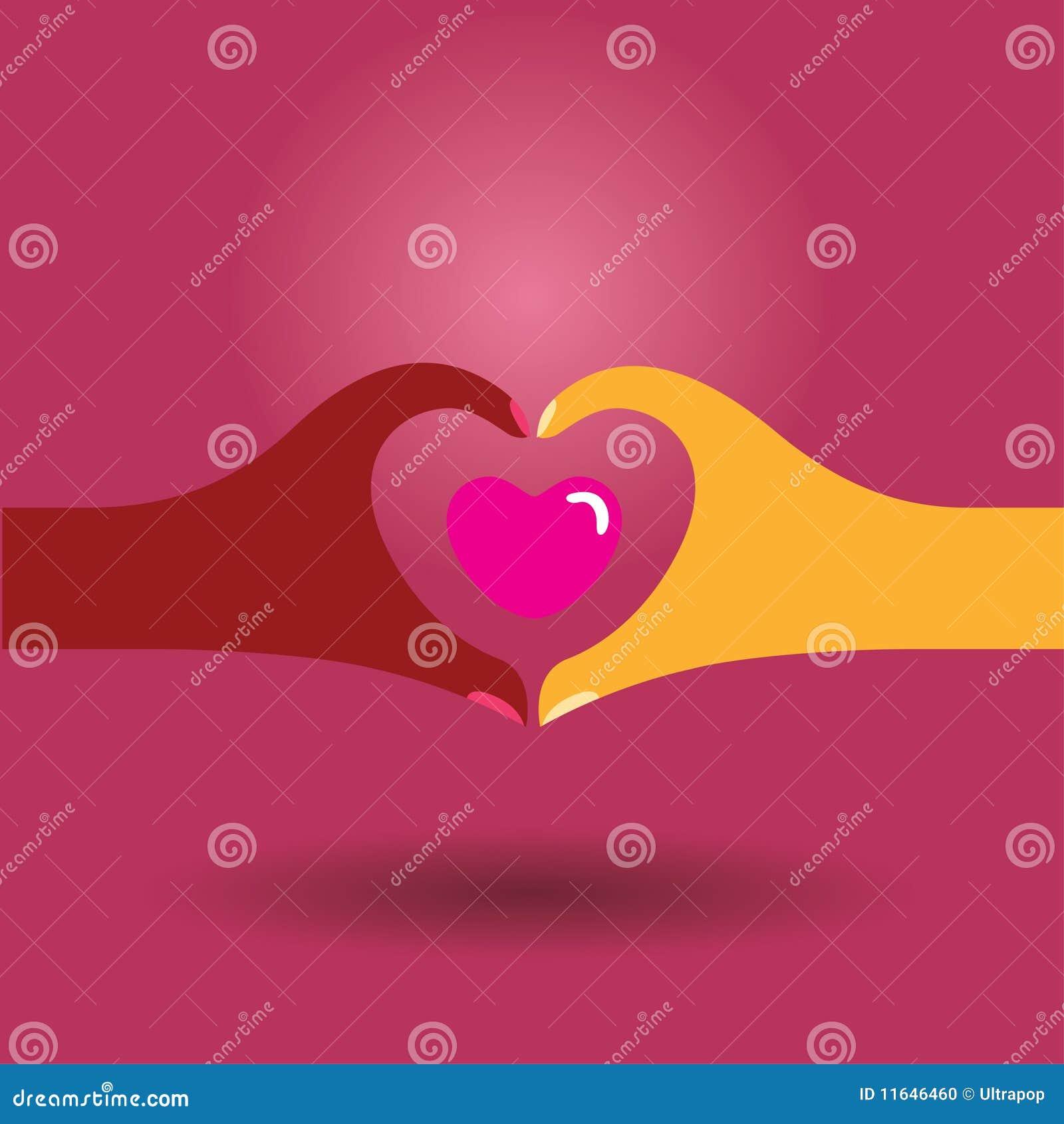 symbole de l 39 amour illustration de vecteur image du diversit 11646460. Black Bedroom Furniture Sets. Home Design Ideas