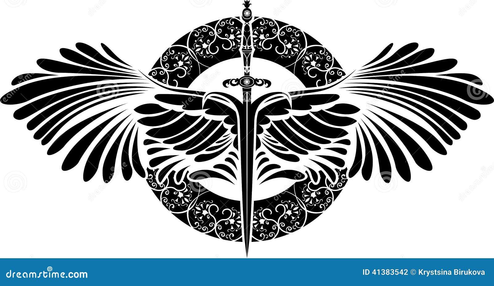 Symbole de la protection p e avec des ailes illustration de vecteur image 41383542 - Symbole de la perseverance ...