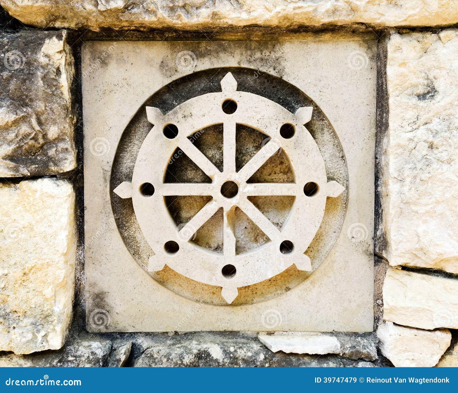 symbole de la roue du bouddhisme image stock image du fond cercle 39747479. Black Bedroom Furniture Sets. Home Design Ideas