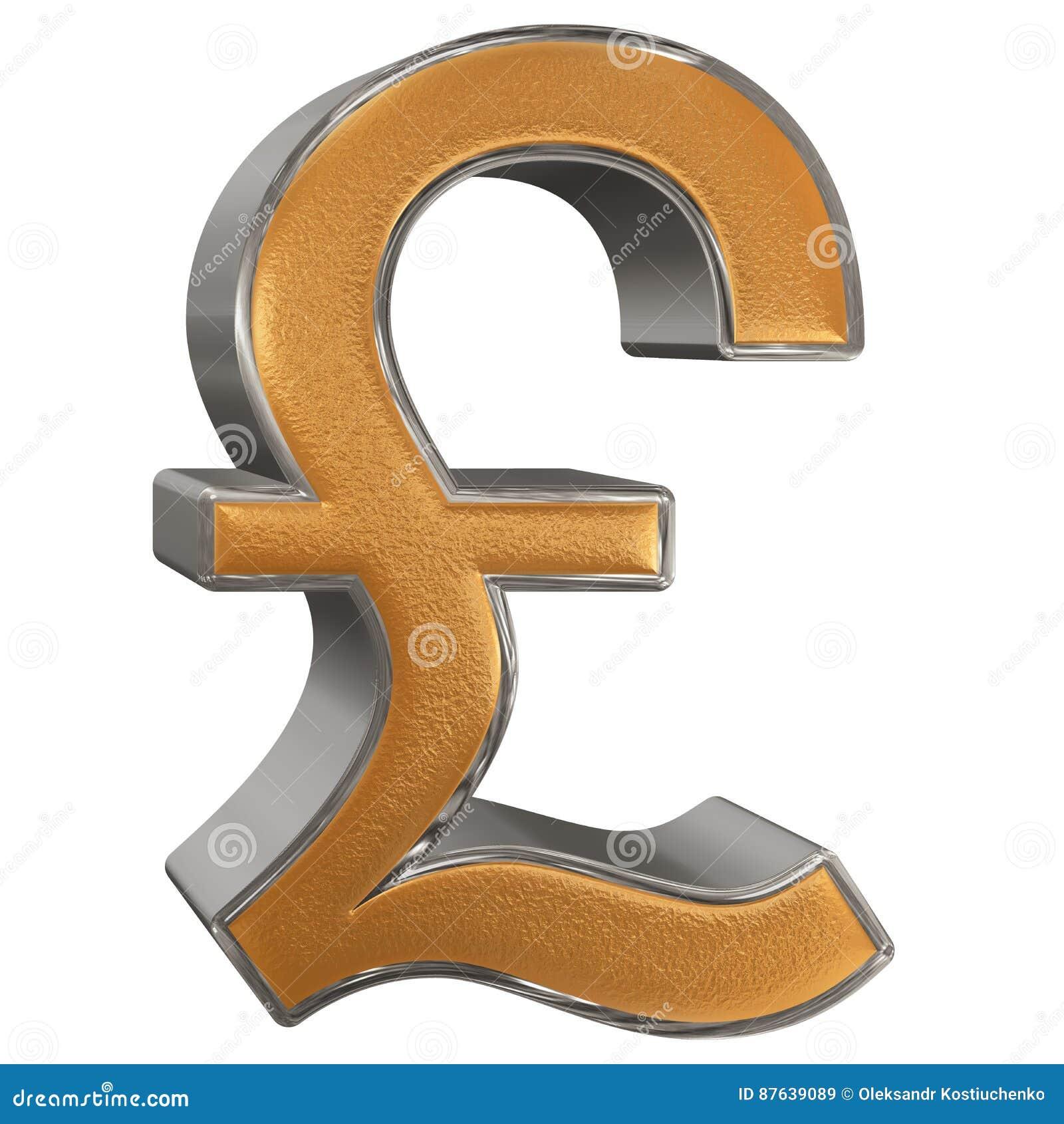 Symbole De Livre Sterling Britannique D Isolement Sur Le