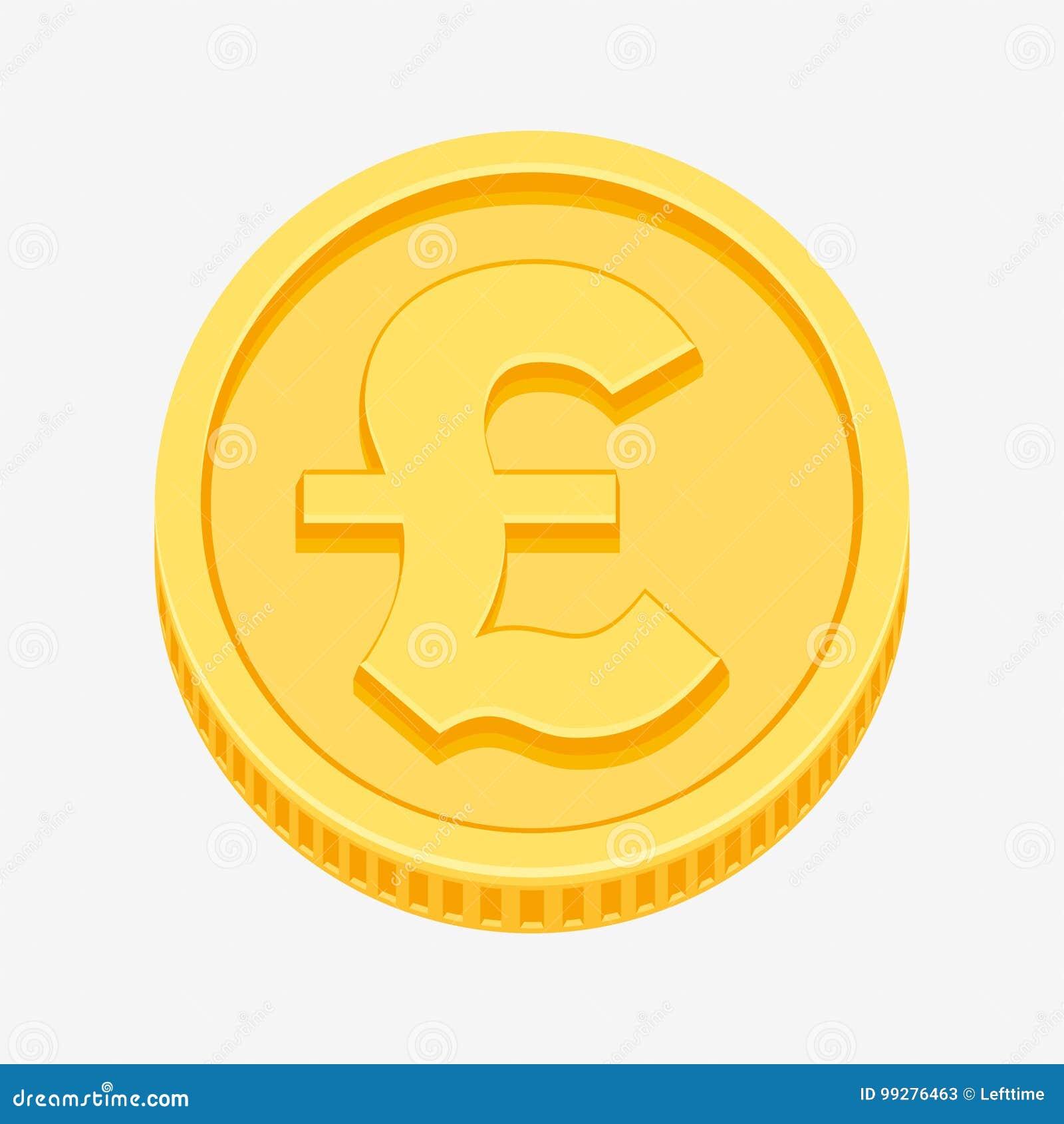 Symbole De Livre Sterling Britannique Sur La Piece D Or