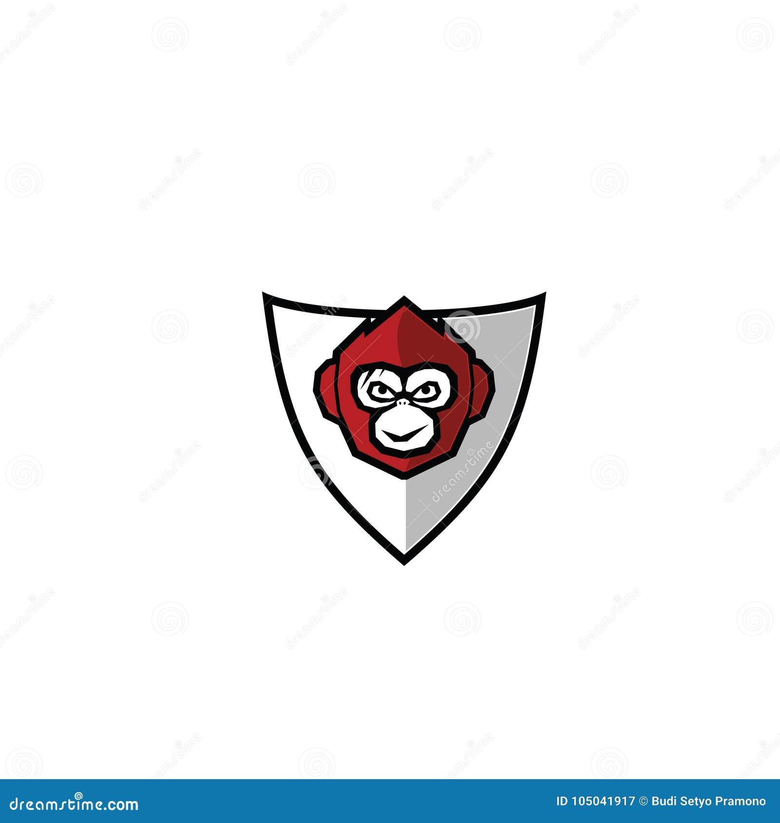 Symbole de Logo Vector de singe