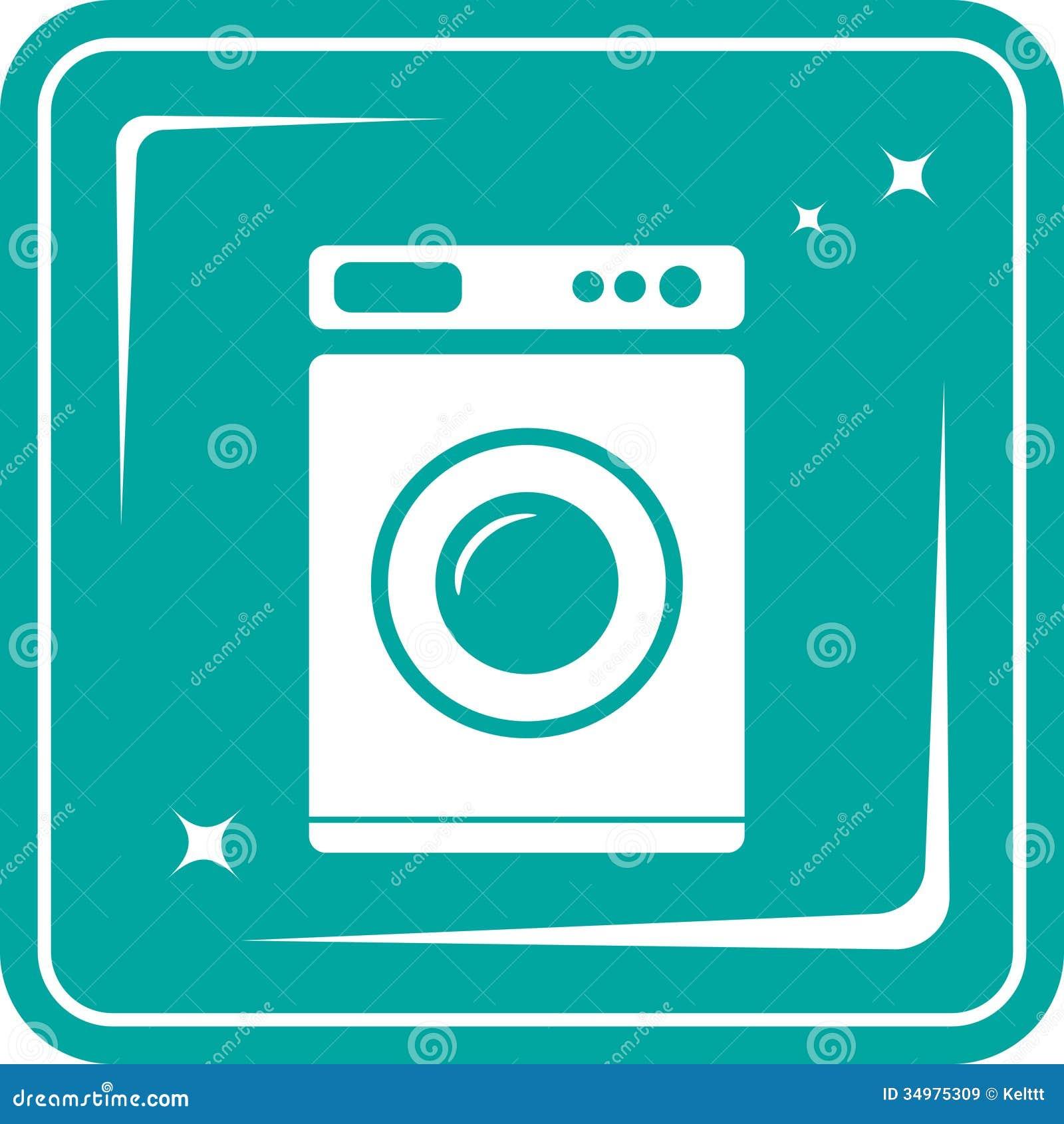 symbole de machine laver images libres de droits image 34975309. Black Bedroom Furniture Sets. Home Design Ideas