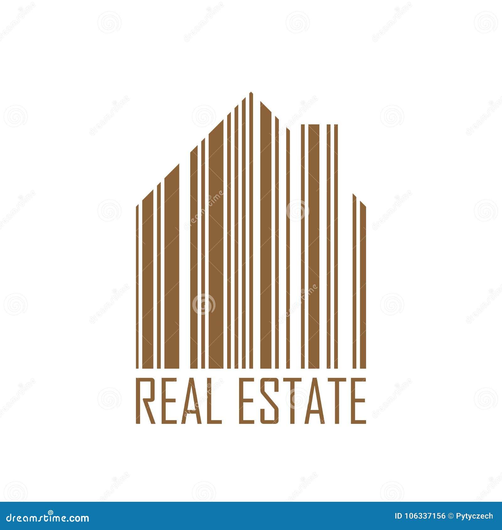 Symbole De Maison Avec La Conception De Code Barres Et Le Label D