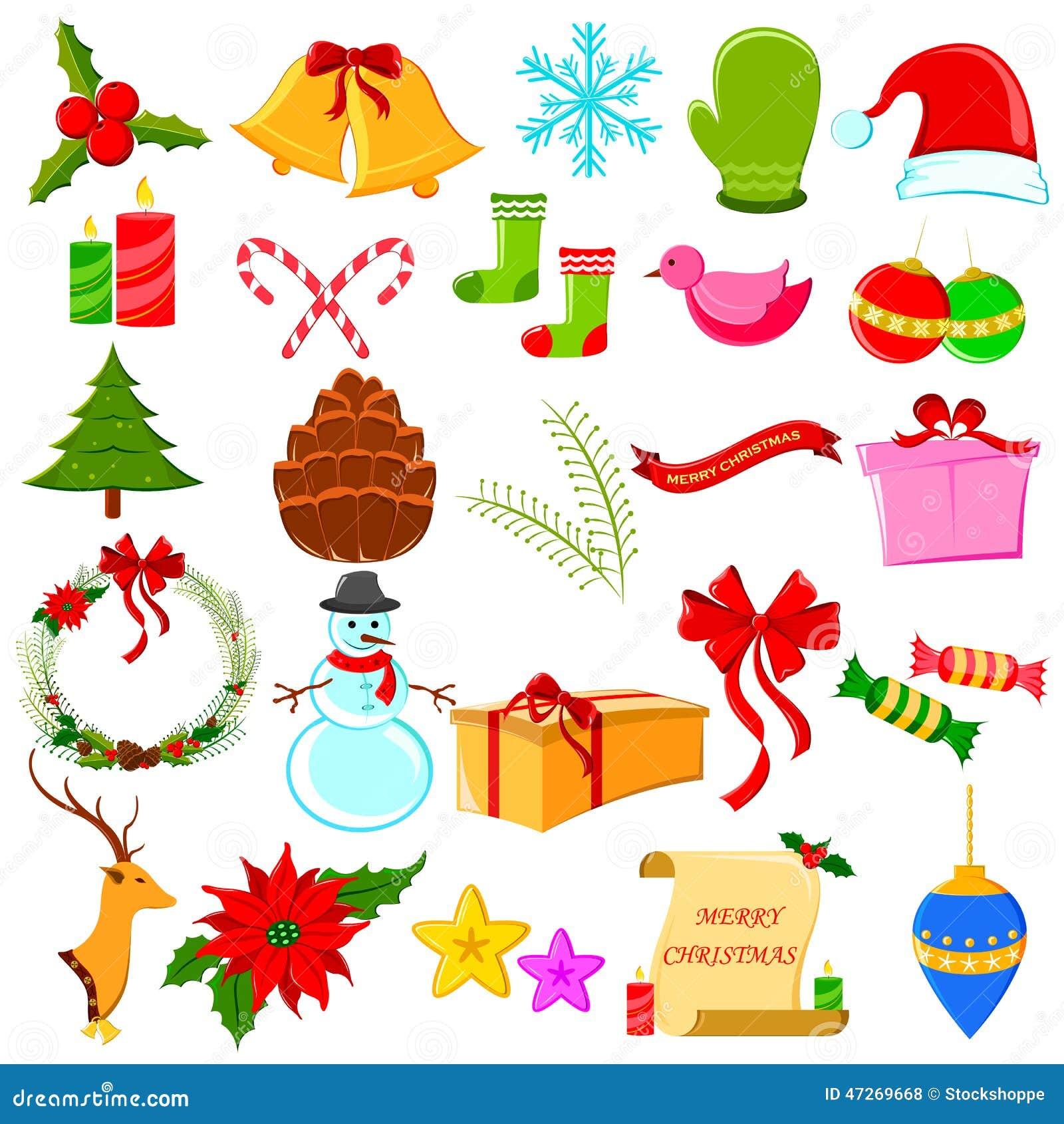 Symbole De Noel Symbole de Noël saint illustration de vecteur. Illustration du