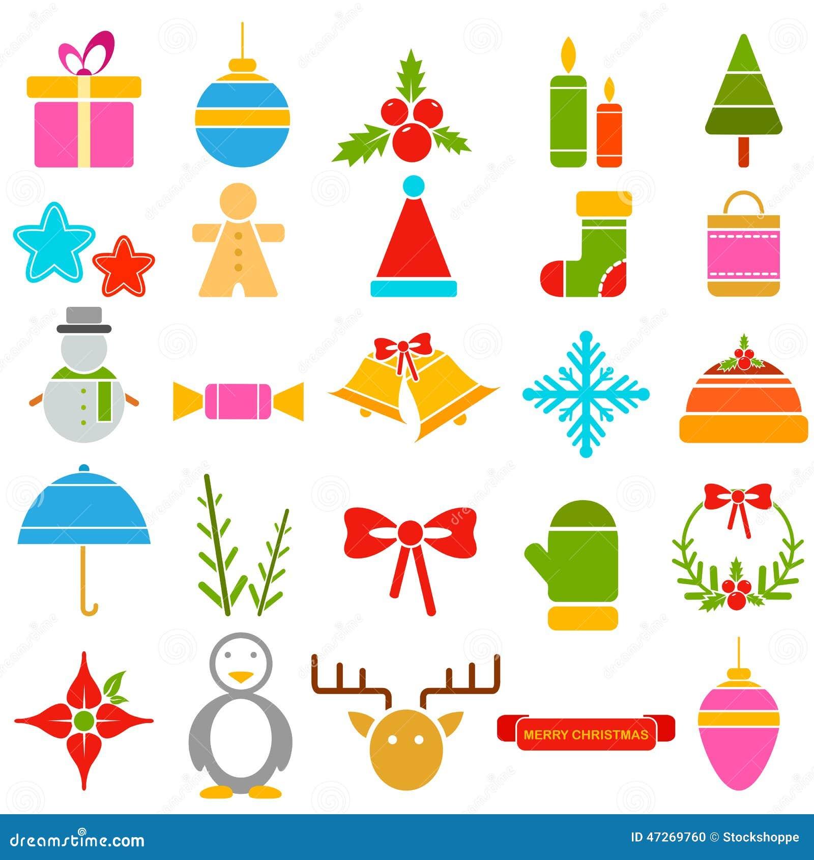 symbole de noel Symbole de Noël saint illustration de vecteur. Illustration du  symbole de noel