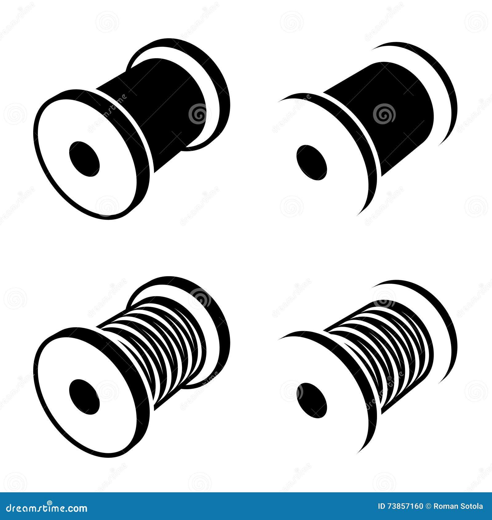 symbole de noir de bobine de fil de couture illustration de vecteur illustration du m tier. Black Bedroom Furniture Sets. Home Design Ideas