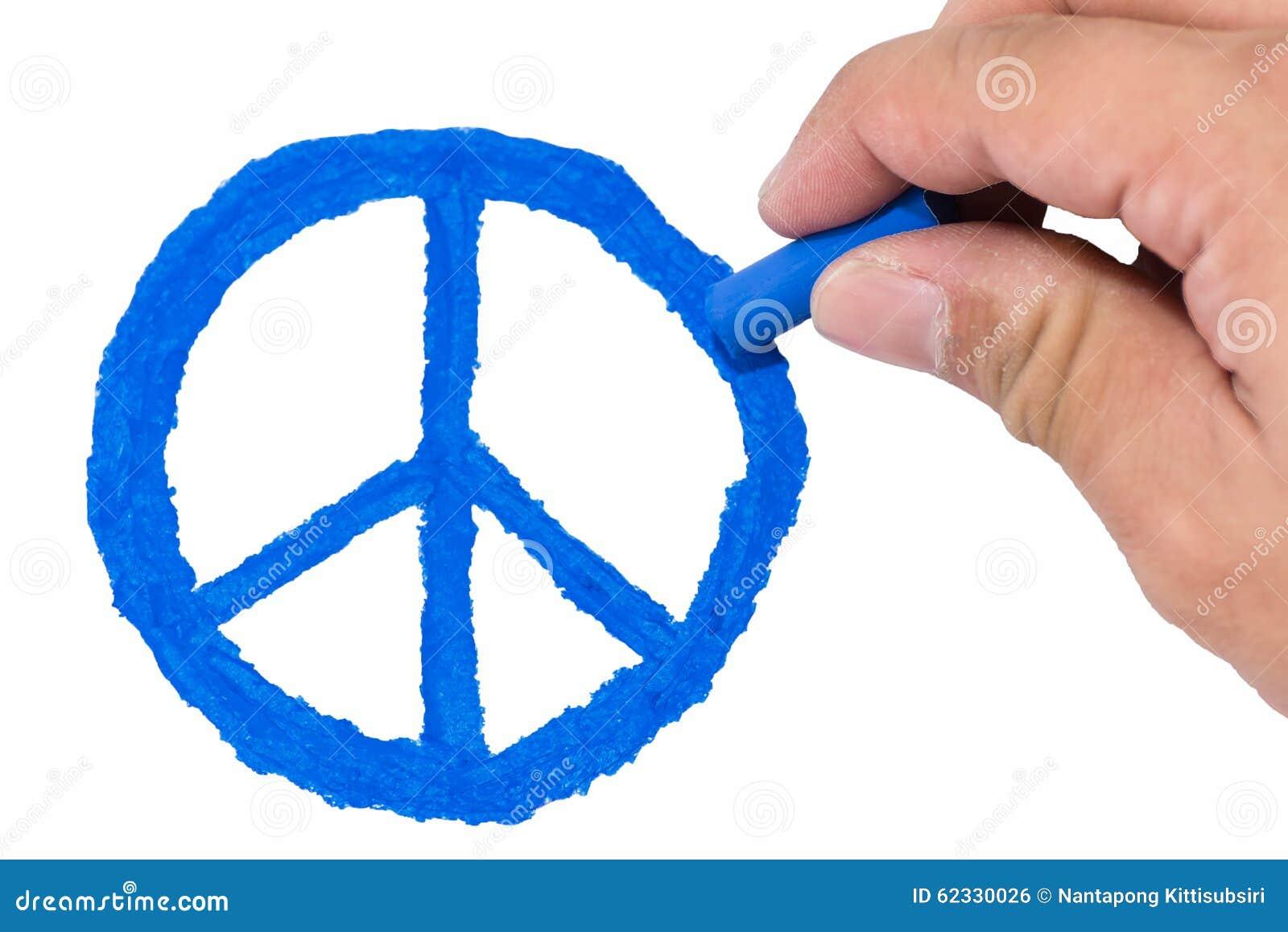 Exceptionnel Symbole De Paix Bleu De Couleur Du Dessin Droit De L'homme  YR43