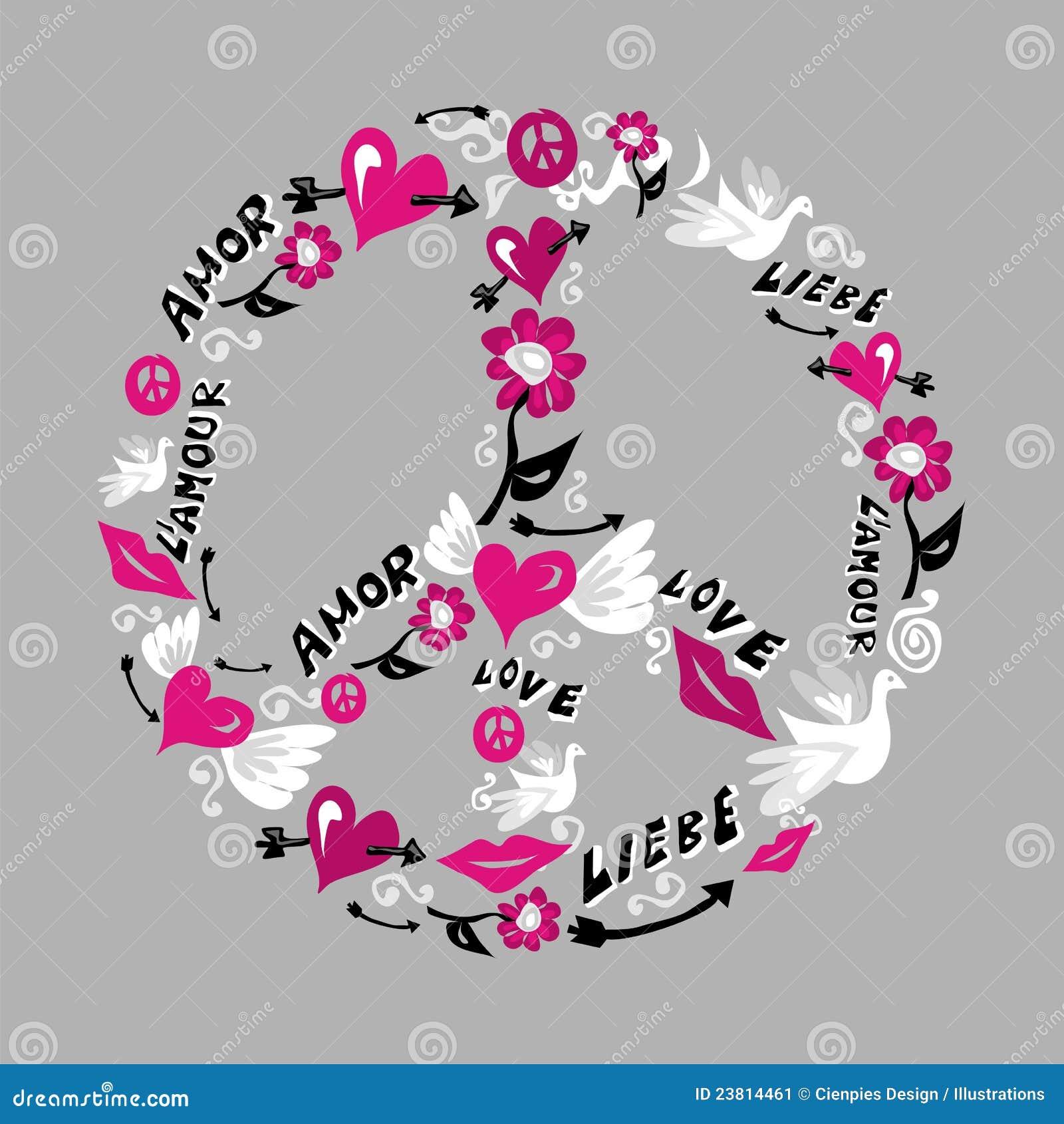 symbole de paix et d 39 amour illustration de vecteur illustration du concept 23814461. Black Bedroom Furniture Sets. Home Design Ideas
