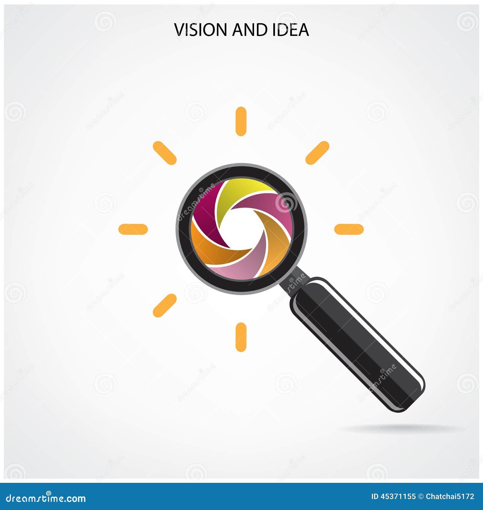 Symbole de recherche et de vision, idées d affaires