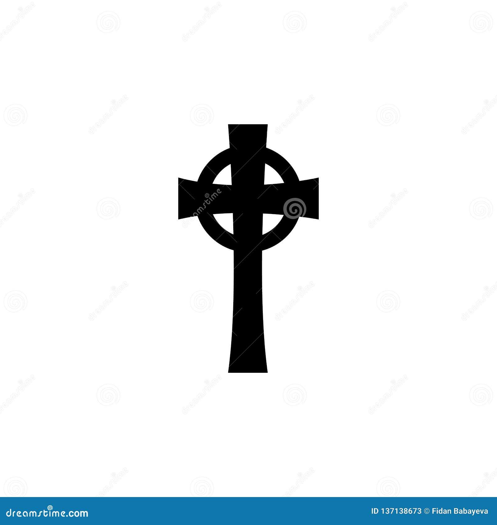 Symbole de religion, icône croisée celtique Élément d illustration de symbole de religion Des signes et l icône de symboles peuve