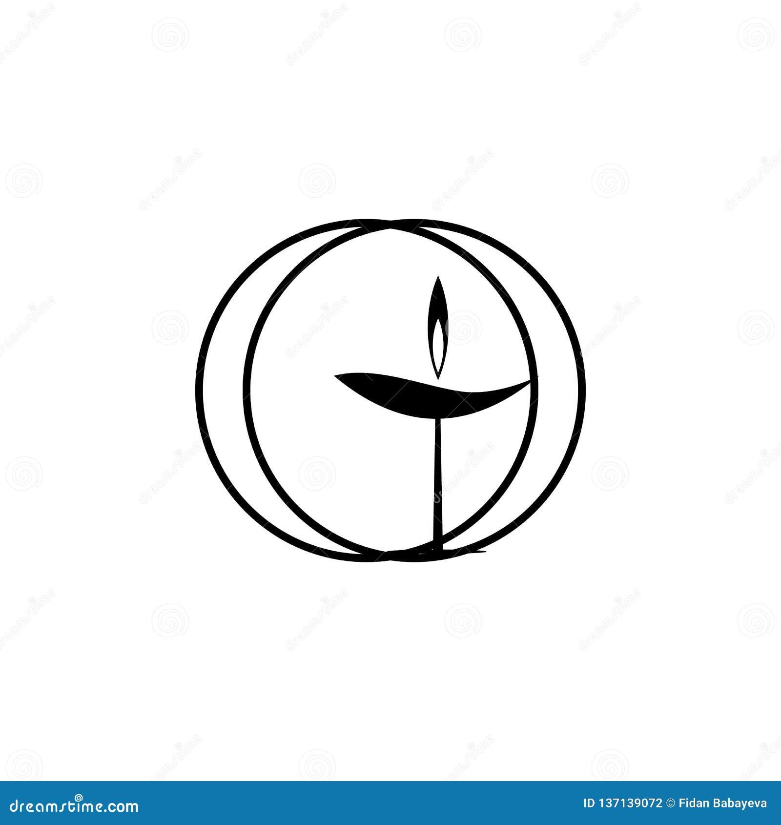 Symbole de religion, Unitarien, icône d universalisme Élément d illustration de symbole de religion Des signes et l icône de symb