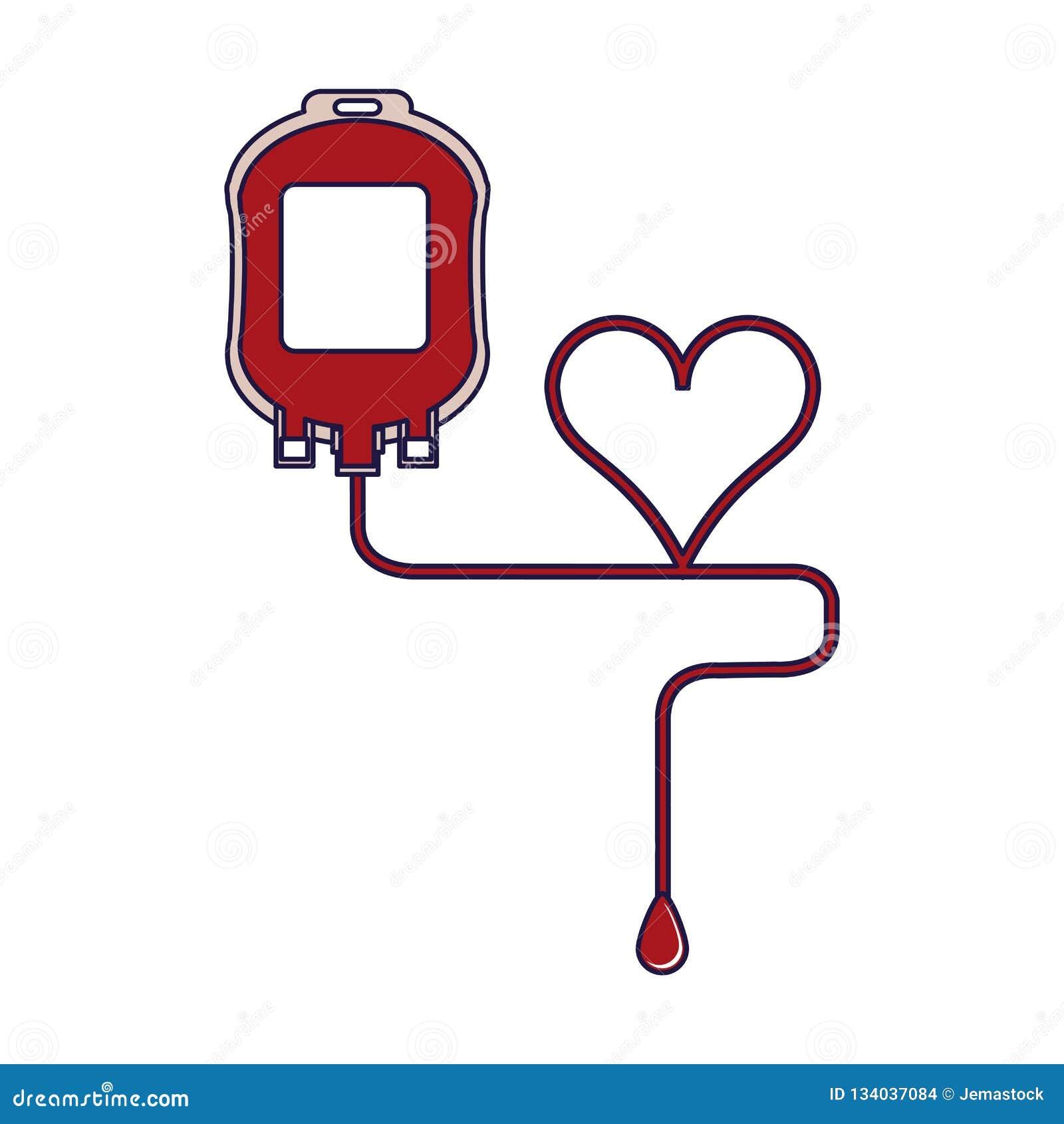Symbole de sac de sang