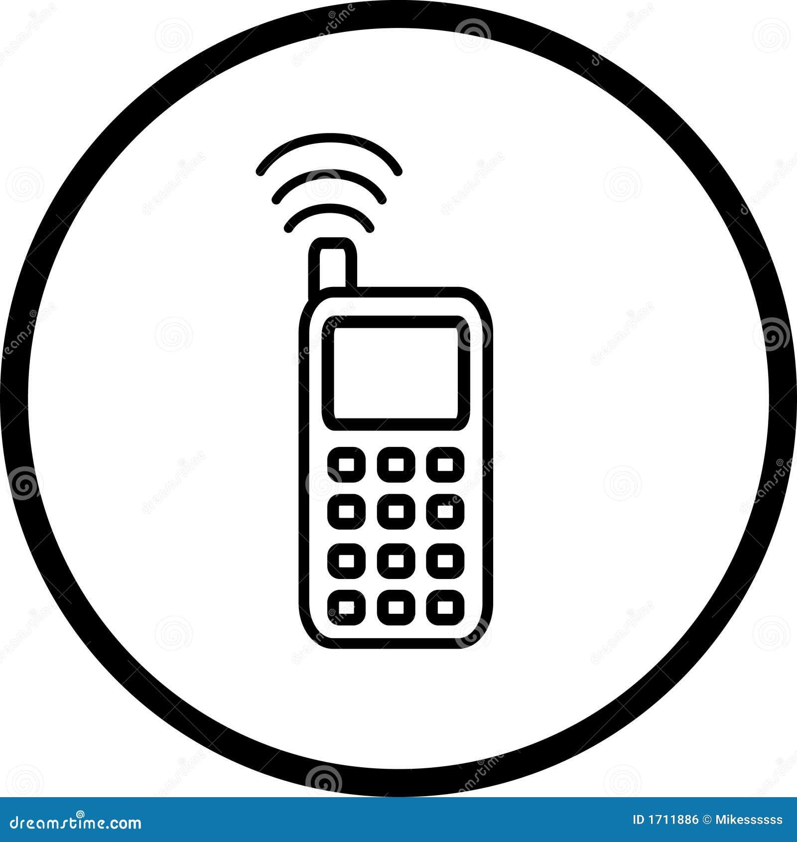 symbole de t u00e9l u00e9phone portable image libre de droits