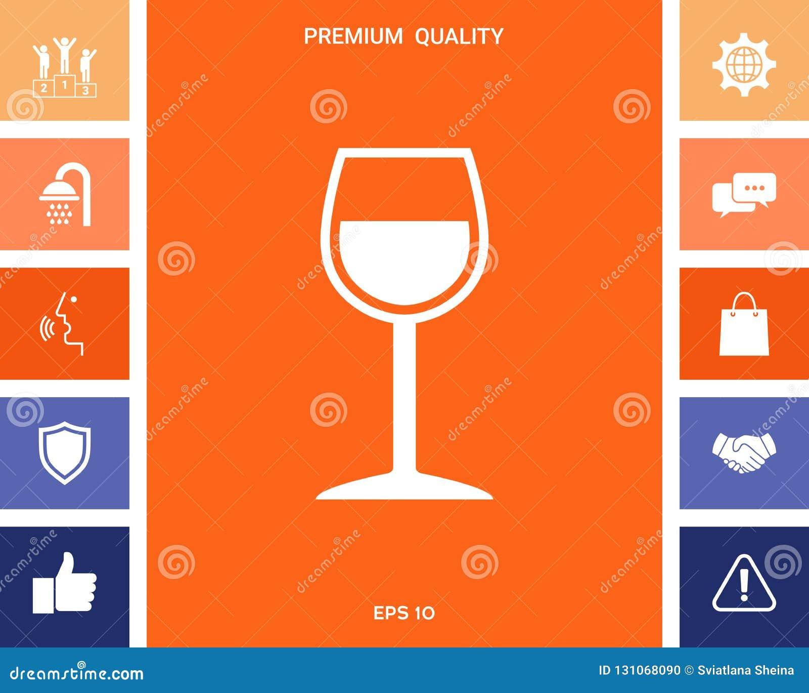 Symbole de verre à vin