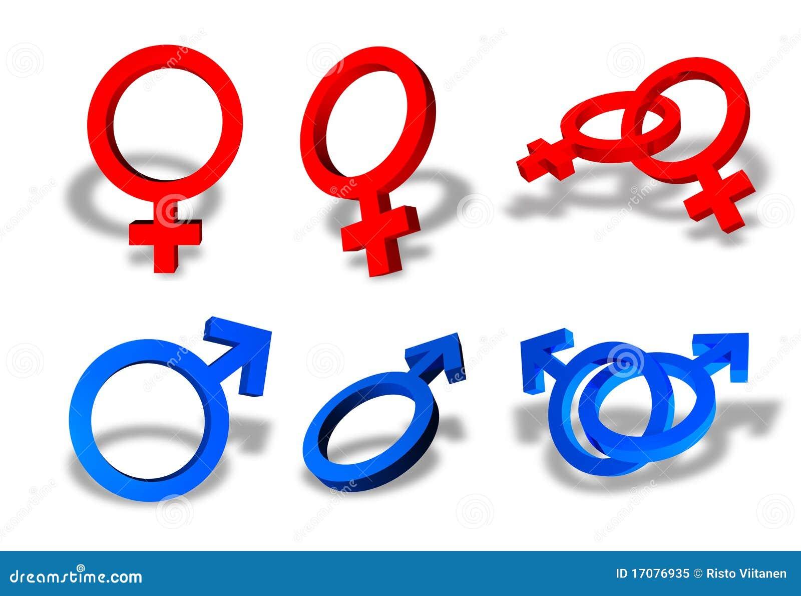 Symbole des männlichen und weiblichen Geschlechtes
