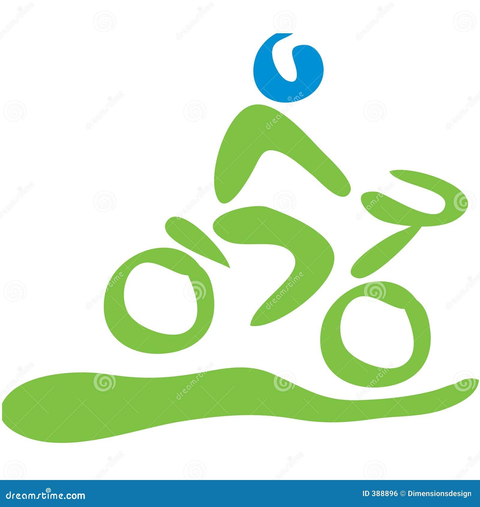 Symbole faisant du vélo