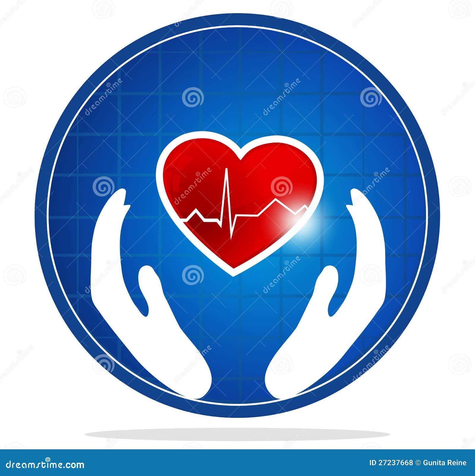 Symbole humain de protection de coeur illustration de - Symbole de protection ...