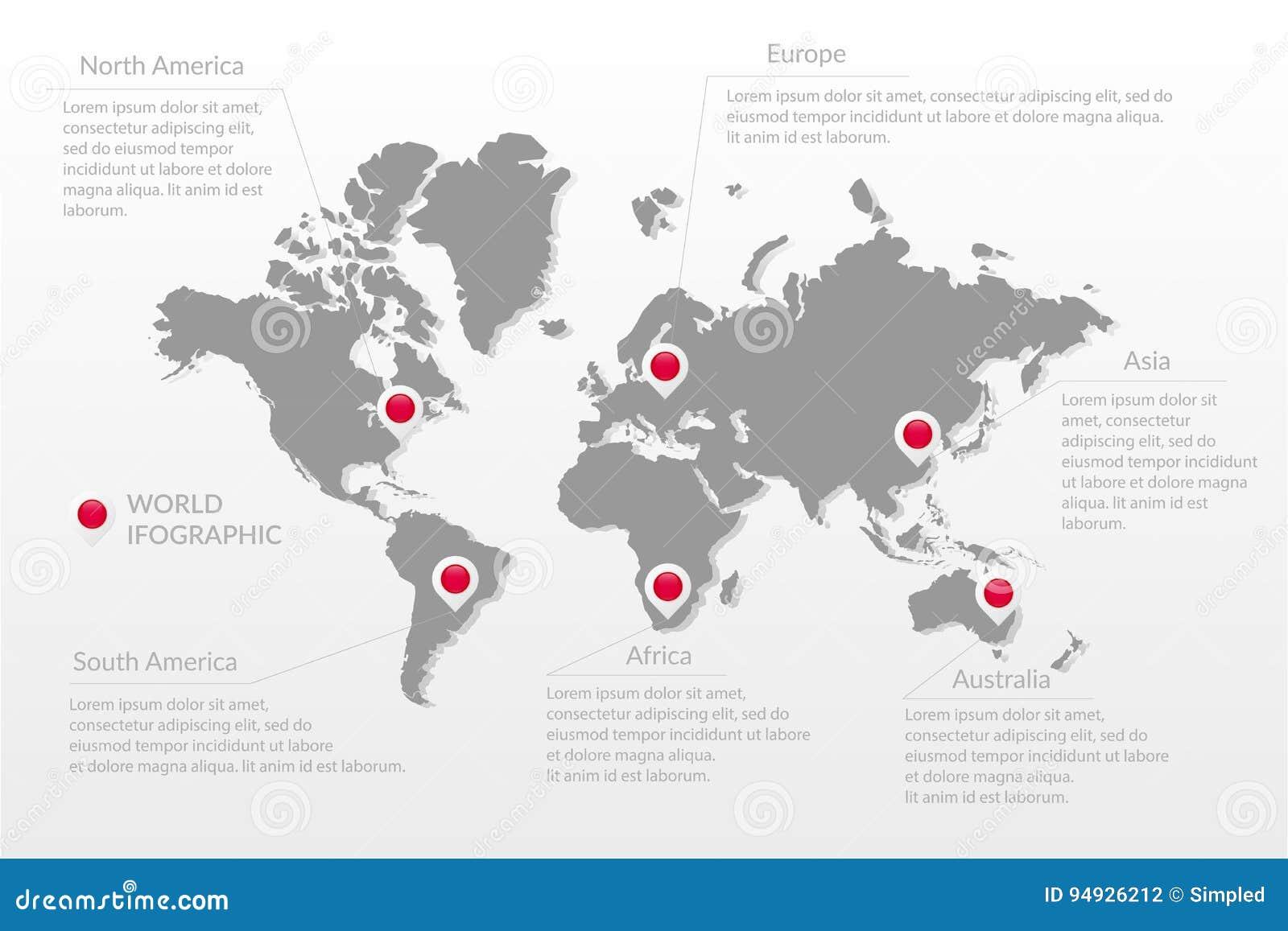Carte Australie Sur Europe.Symbole Infographic De Carte Du Monde De Vecteur L Amerique
