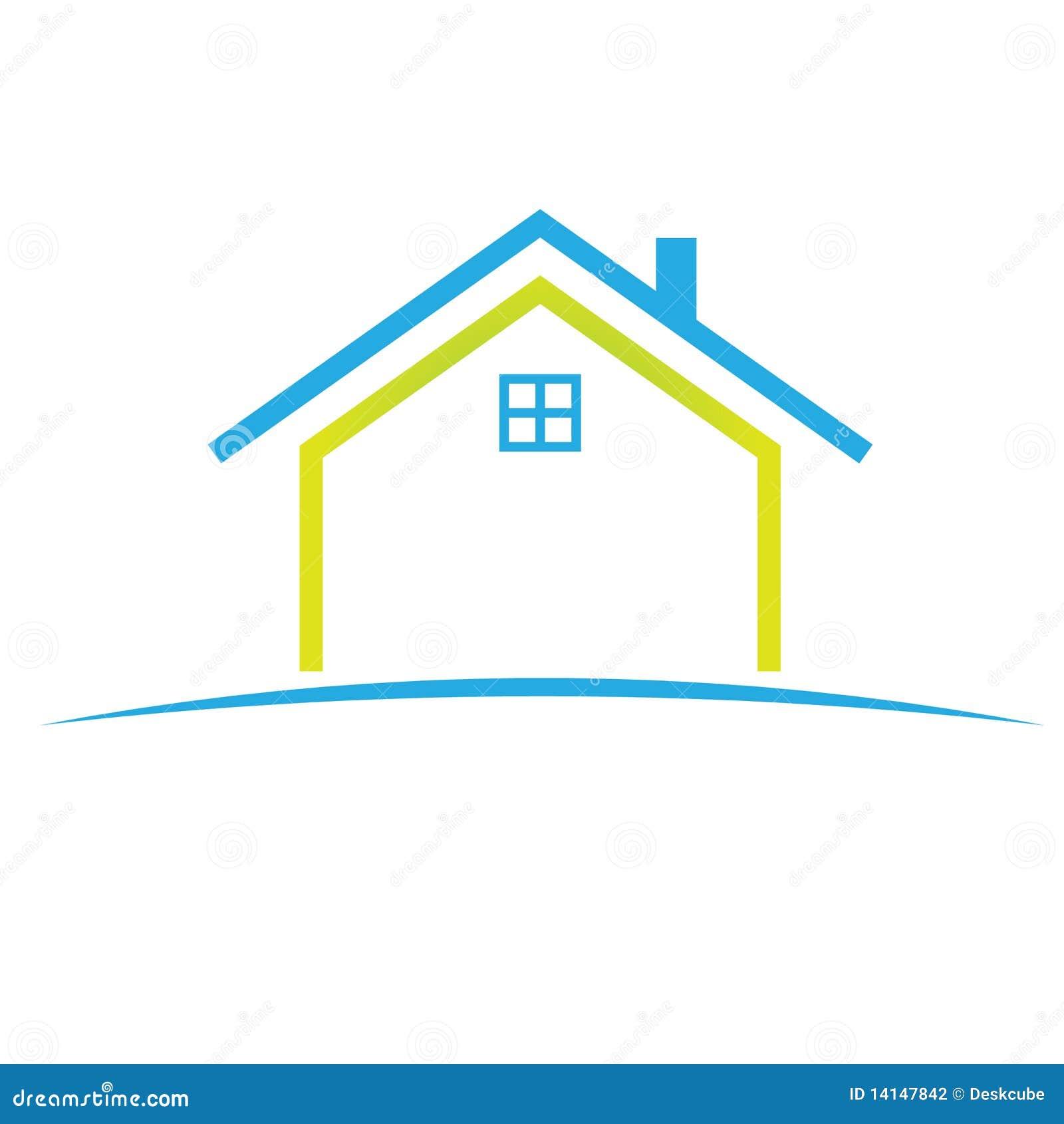 Symbole la maison de logo photographie stock image 14147842 - Logo maison et objet ...