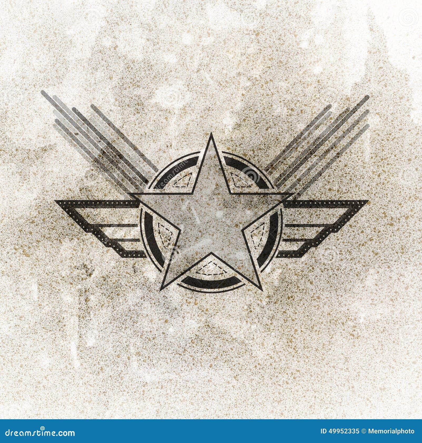 symbole militaire de l 39 arm e de l 39 air illustration stock image 49952335. Black Bedroom Furniture Sets. Home Design Ideas