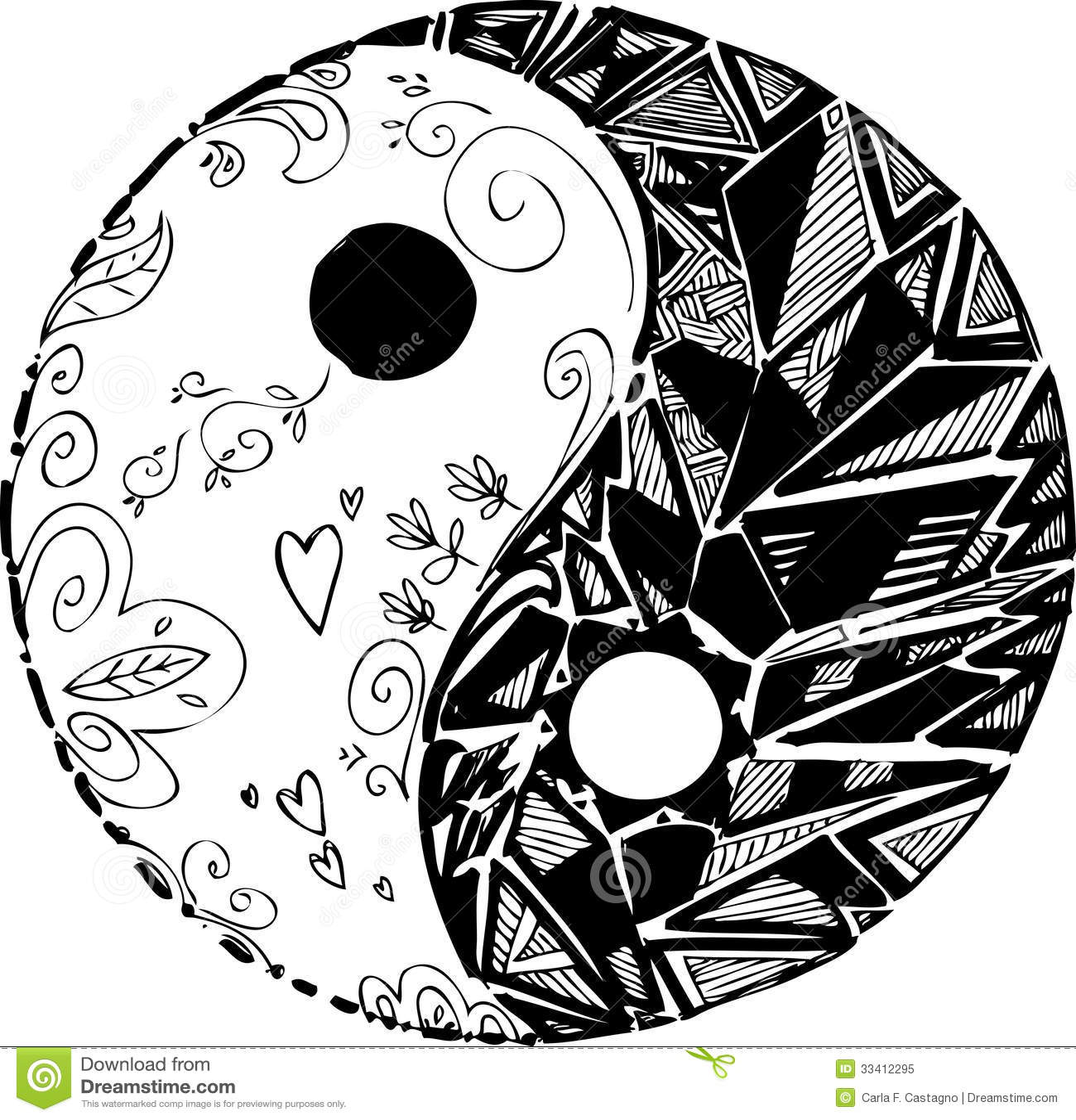 Taoism Symbols Dragon: Symbole Noir Et Blanc De TAO Photo Libre De Droits