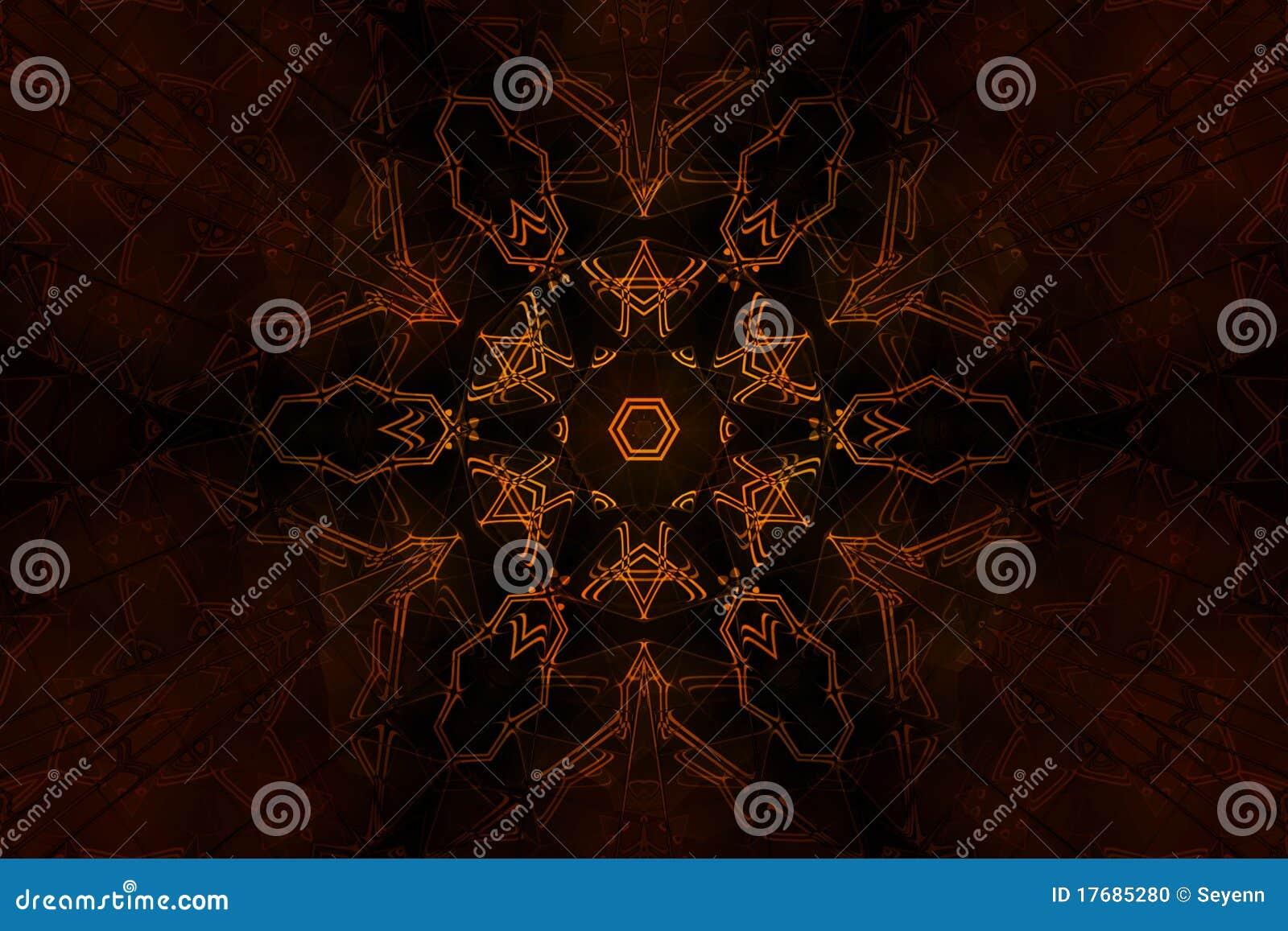 Symbole occulte de flambage