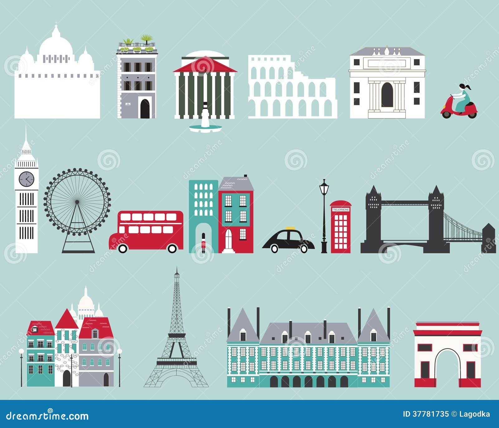Symbole sławni miasta.