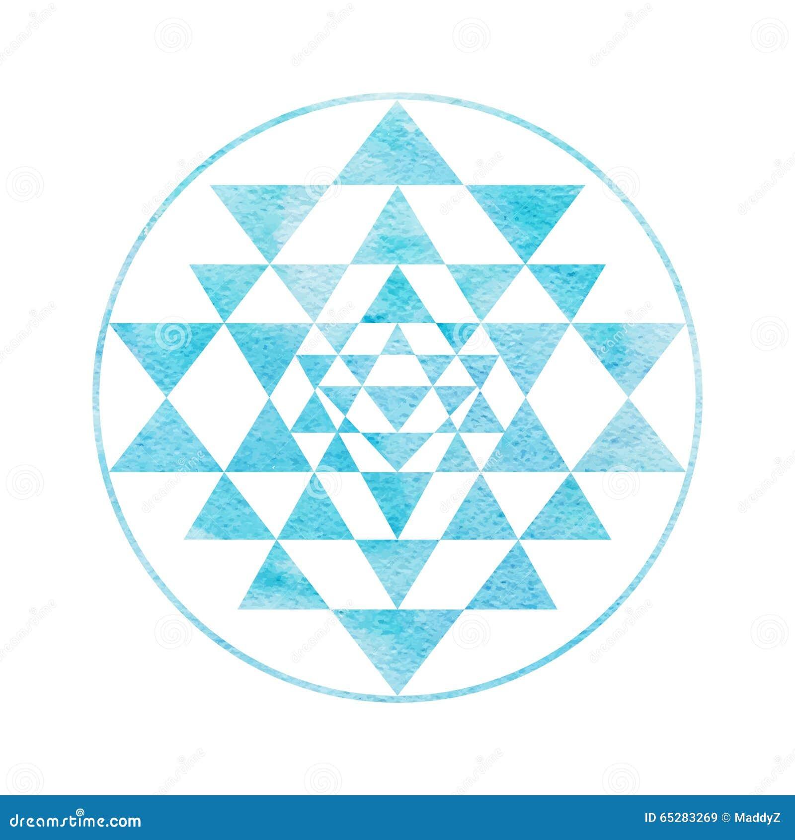 Symbole sacré Sri Yantra de la géométrie et d alchimie
