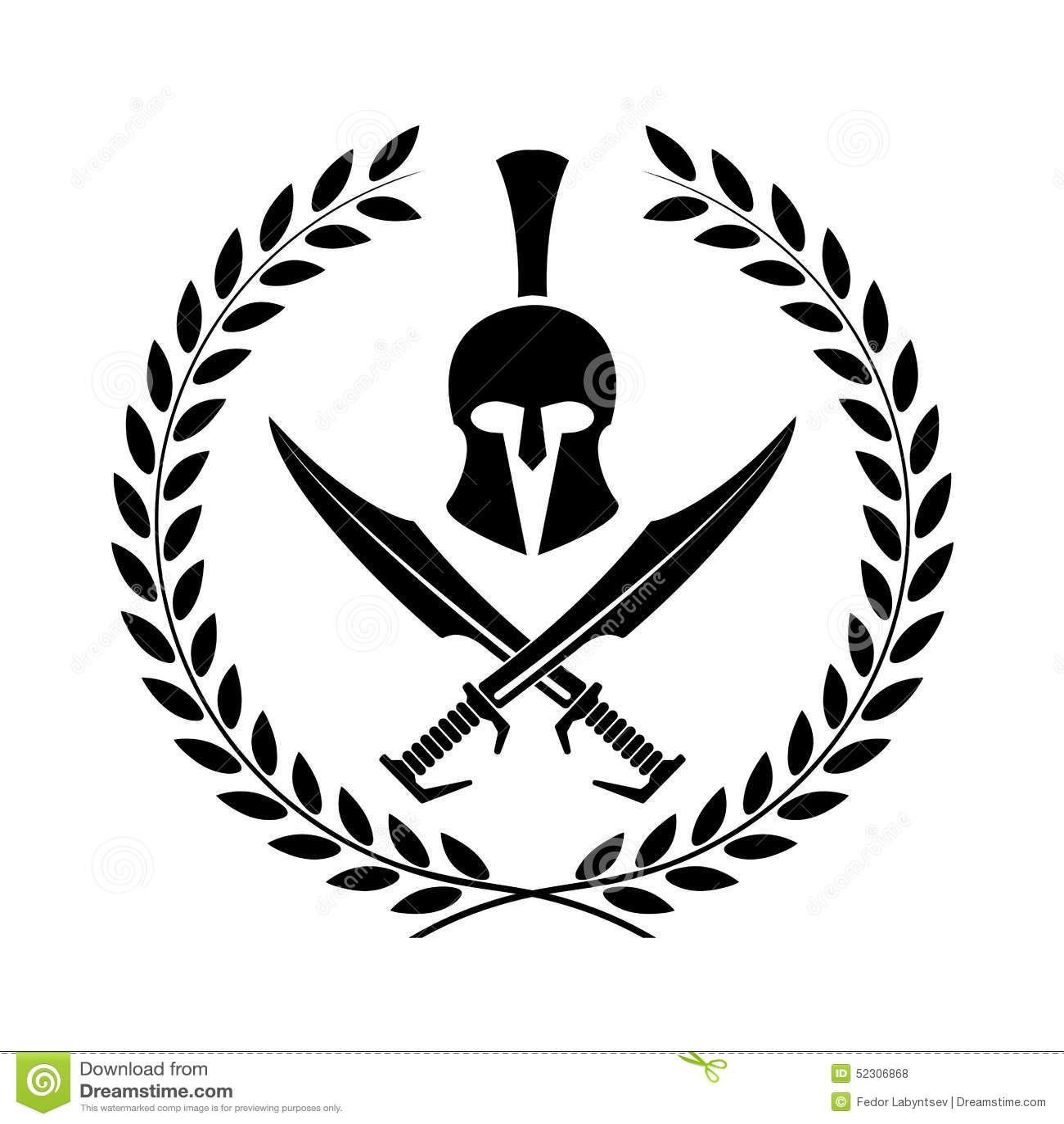 Symbole spartiate de casque d un guerrier