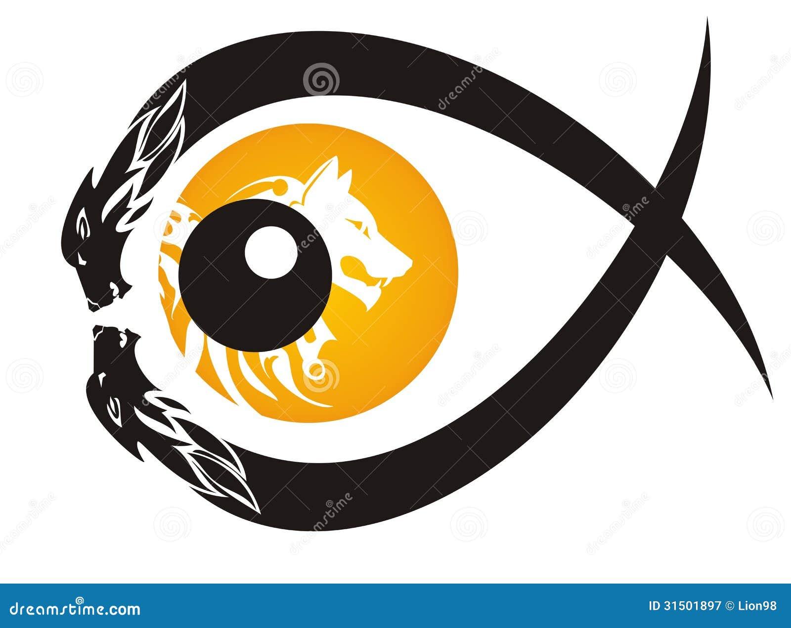 symbole tribal d 39 oeil de loup illustration de vecteur. Black Bedroom Furniture Sets. Home Design Ideas