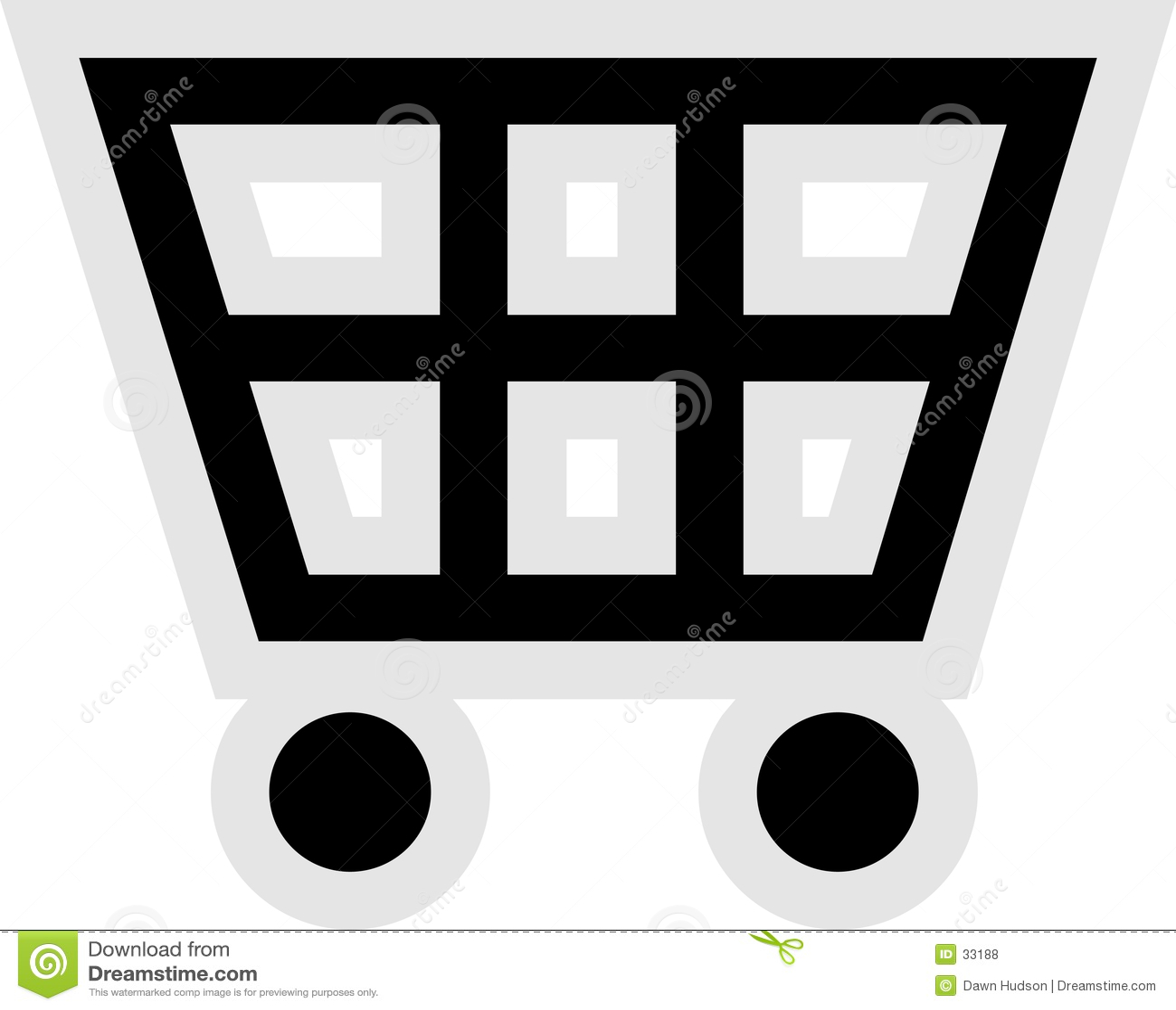 Symbole wózka na zakupy