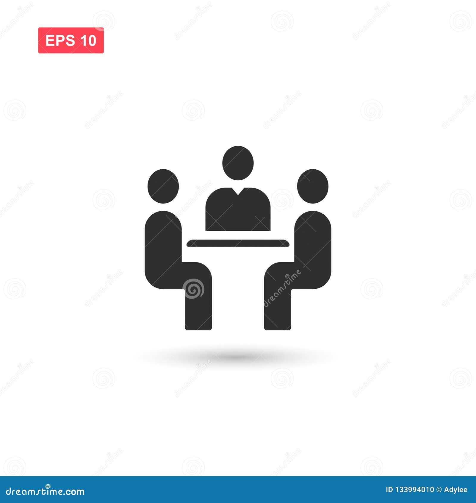 Symbolen för vektorn för affärsmötet isolerade
