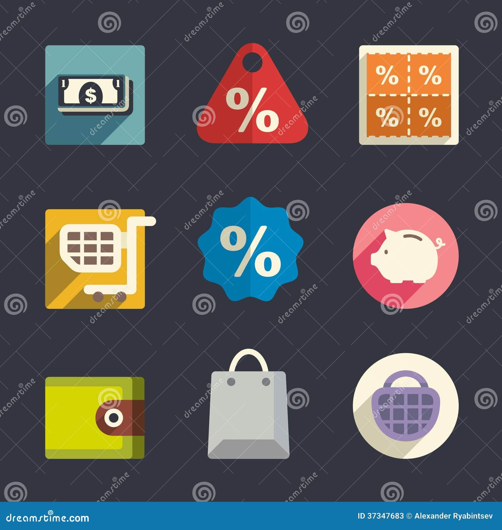 Symboler för affärstemalägenhet