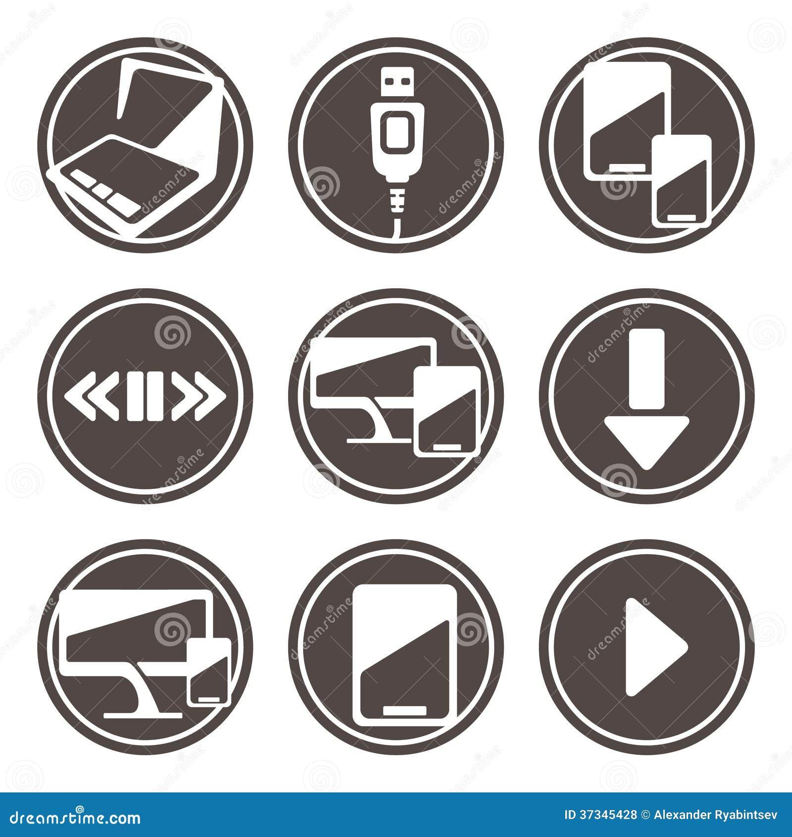 Symboler för elektroniska apparater