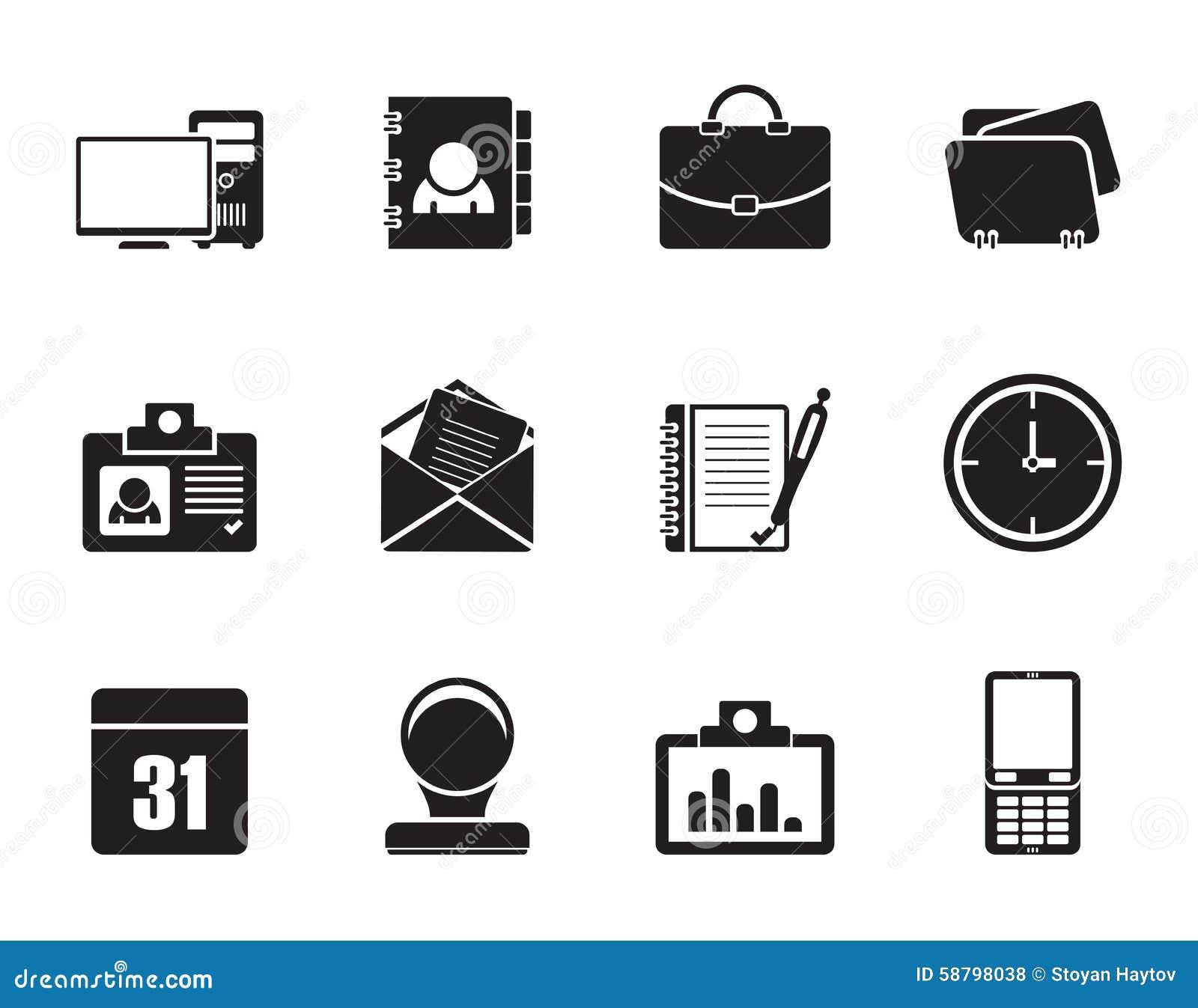 Symboler för konturrengöringsdukapplikationer, affärs- och kontors, universella symboler