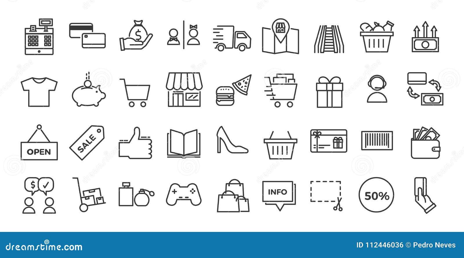 Symboler släkta med kommers, shoppar, shoppinggallerior, detaljhandel