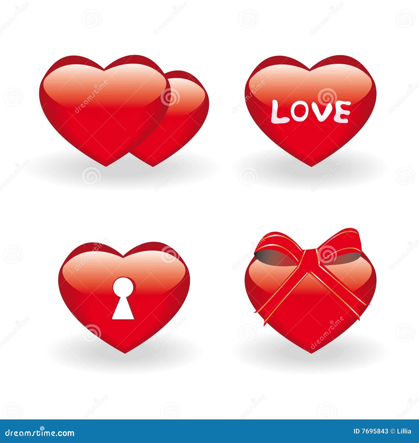 Symboler ställde in valentinen