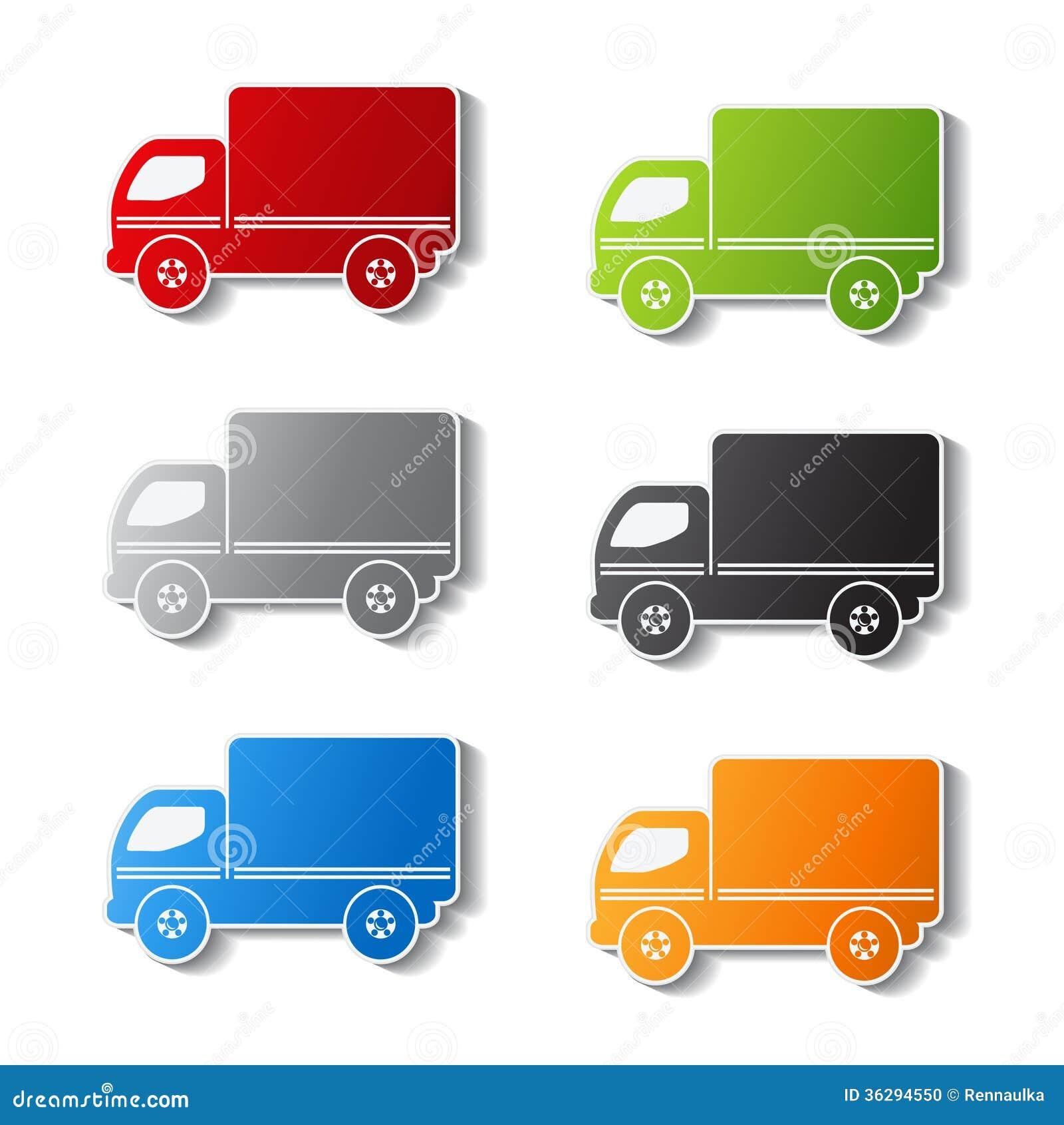 symboles de camion ic ne de la livraison autocollant illustration de vecteur illustration. Black Bedroom Furniture Sets. Home Design Ideas