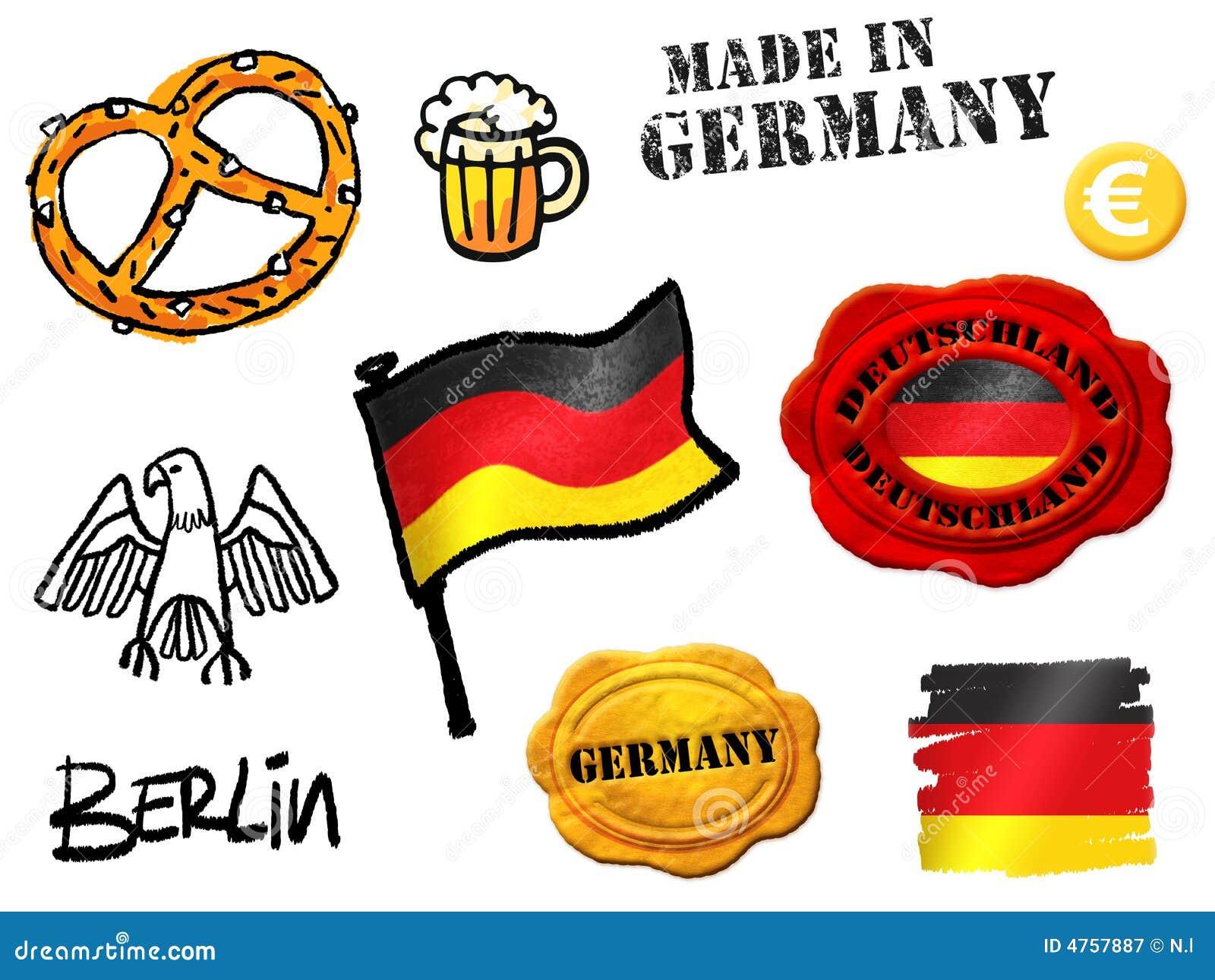 symboles de l 39 allemagne illustration stock illustration du tat 4757887. Black Bedroom Furniture Sets. Home Design Ideas