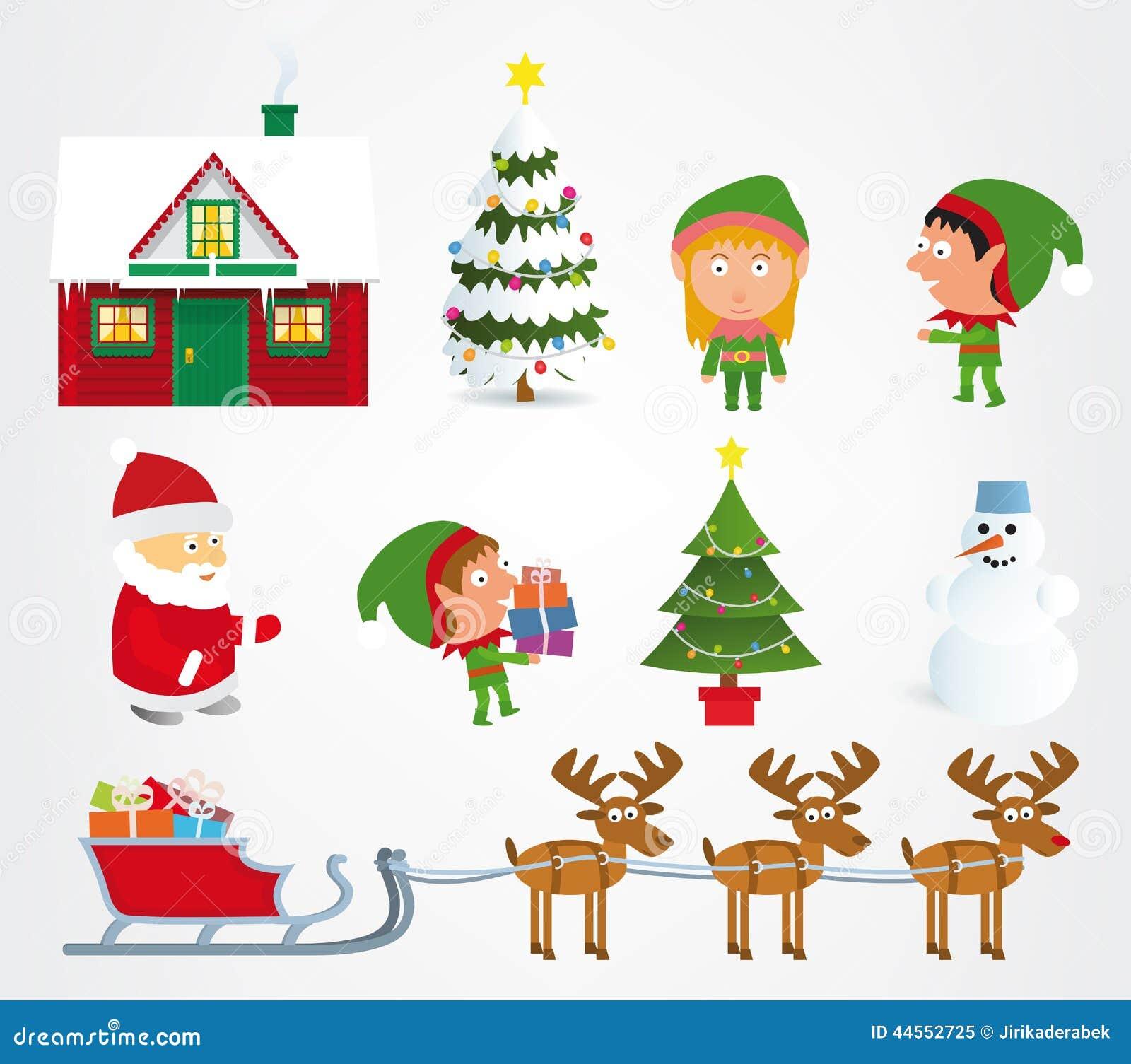symbole de noel Symboles de Noël illustration de vecteur. Illustration du  symbole de noel