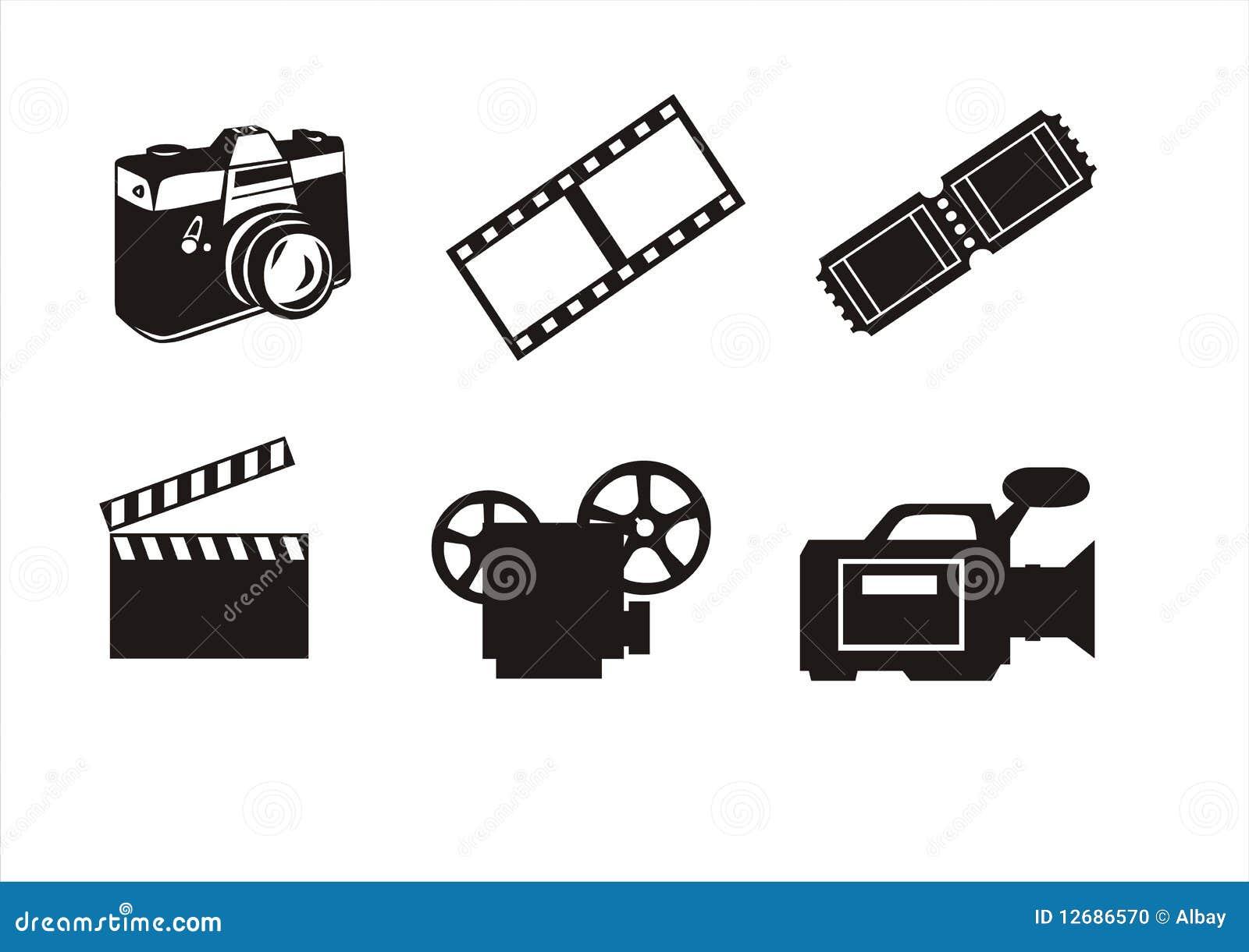 Symboles de photographie et de cin ma photo stock image for Photographie de stock