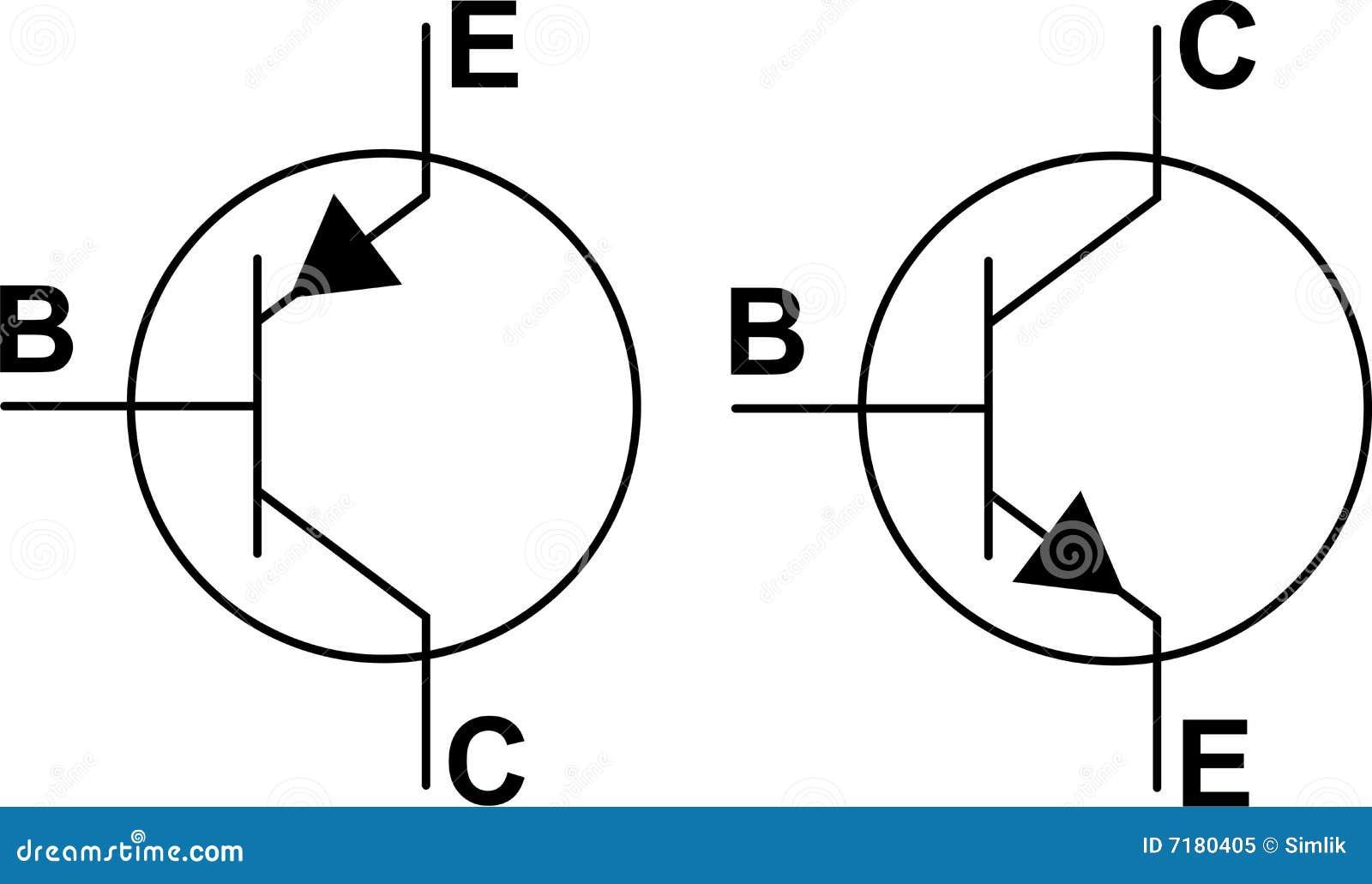 symboles du transistor npn pnp illustration de vecteur