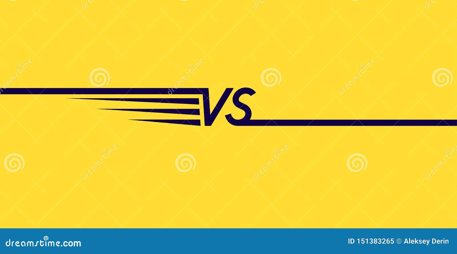 Symboles lumineux d affiche de confrontation CONTRE Illustration de vecteur sur le fond jaune