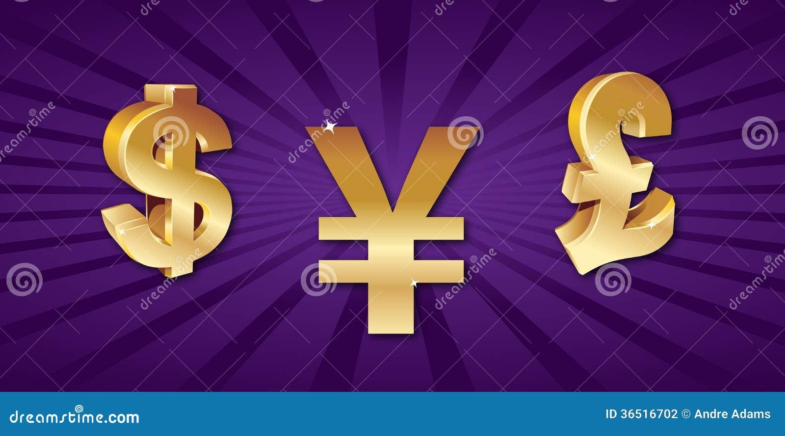 Symboles monétaires du monde