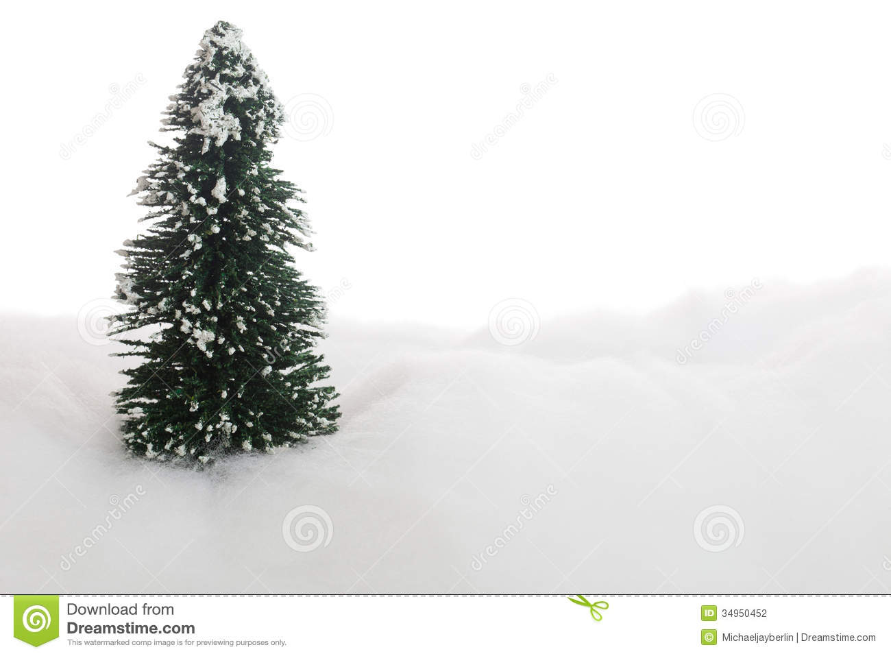 Symbolic Christmas Tree In The Snow Stock Photo Image Of Cutout